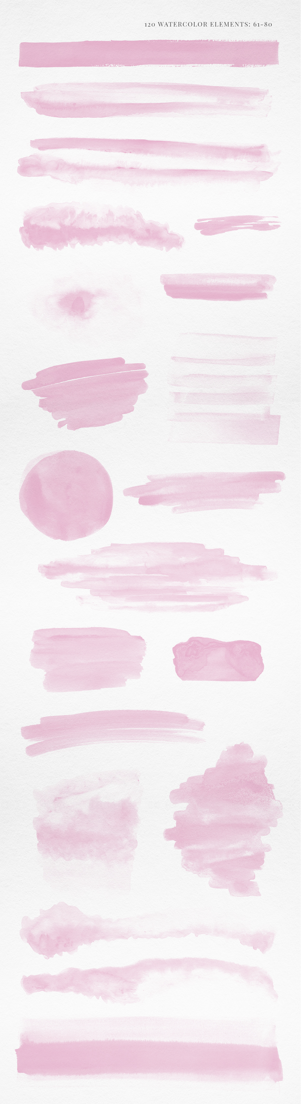 120 Pink Watercolor Texture Elements example image 5