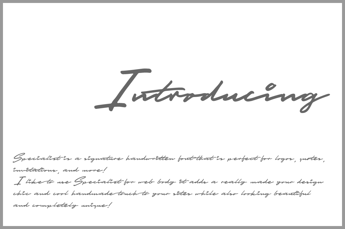 Specialist Handwritten Font example image 2