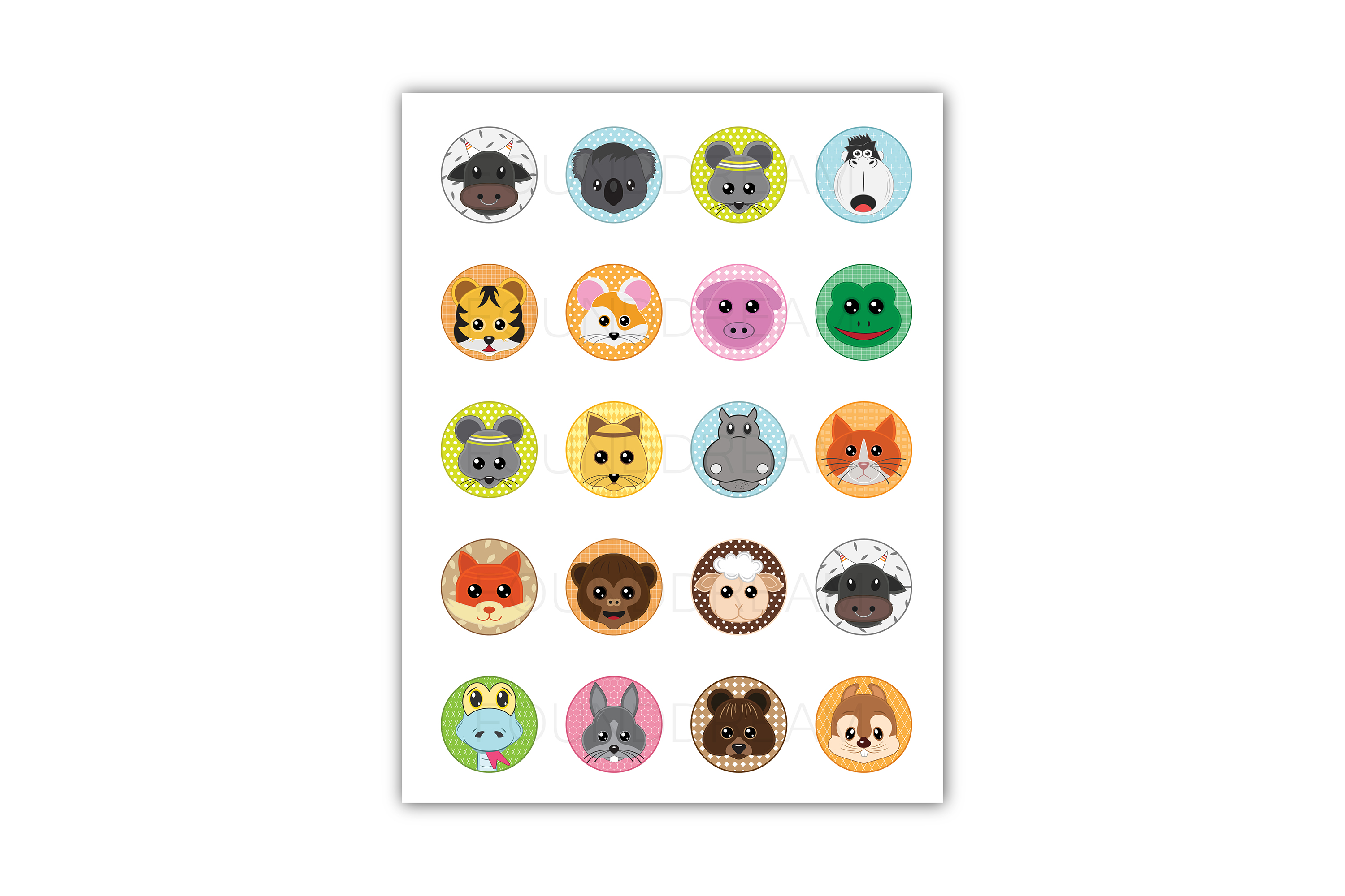 Cute Animal clip art | svg files example image 2