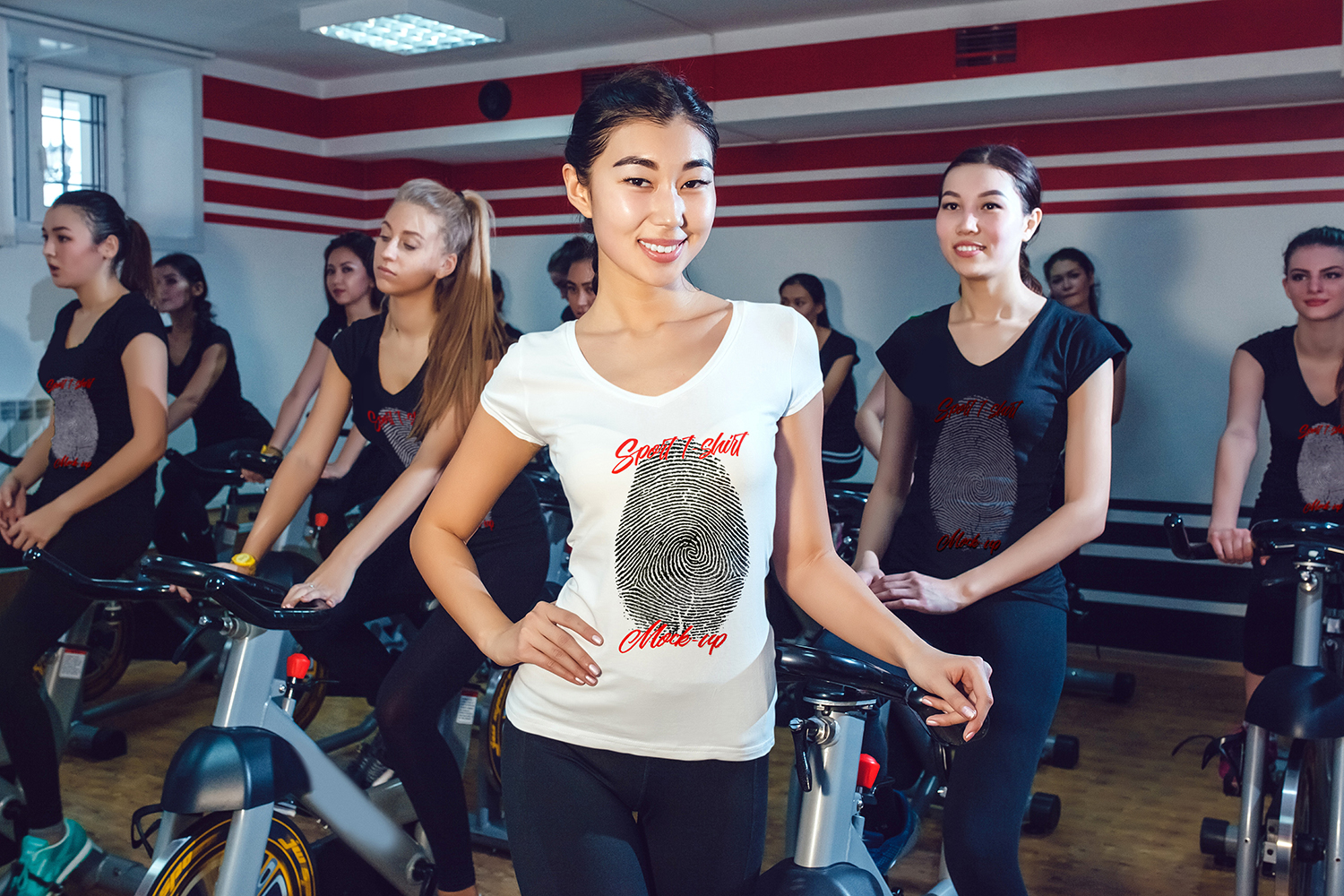 Asian Girl Sport T-Shirt Mock-Up example image 10