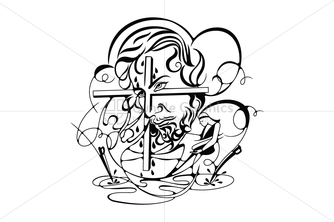 Jesus Christ - Abstract Illustration example image 1