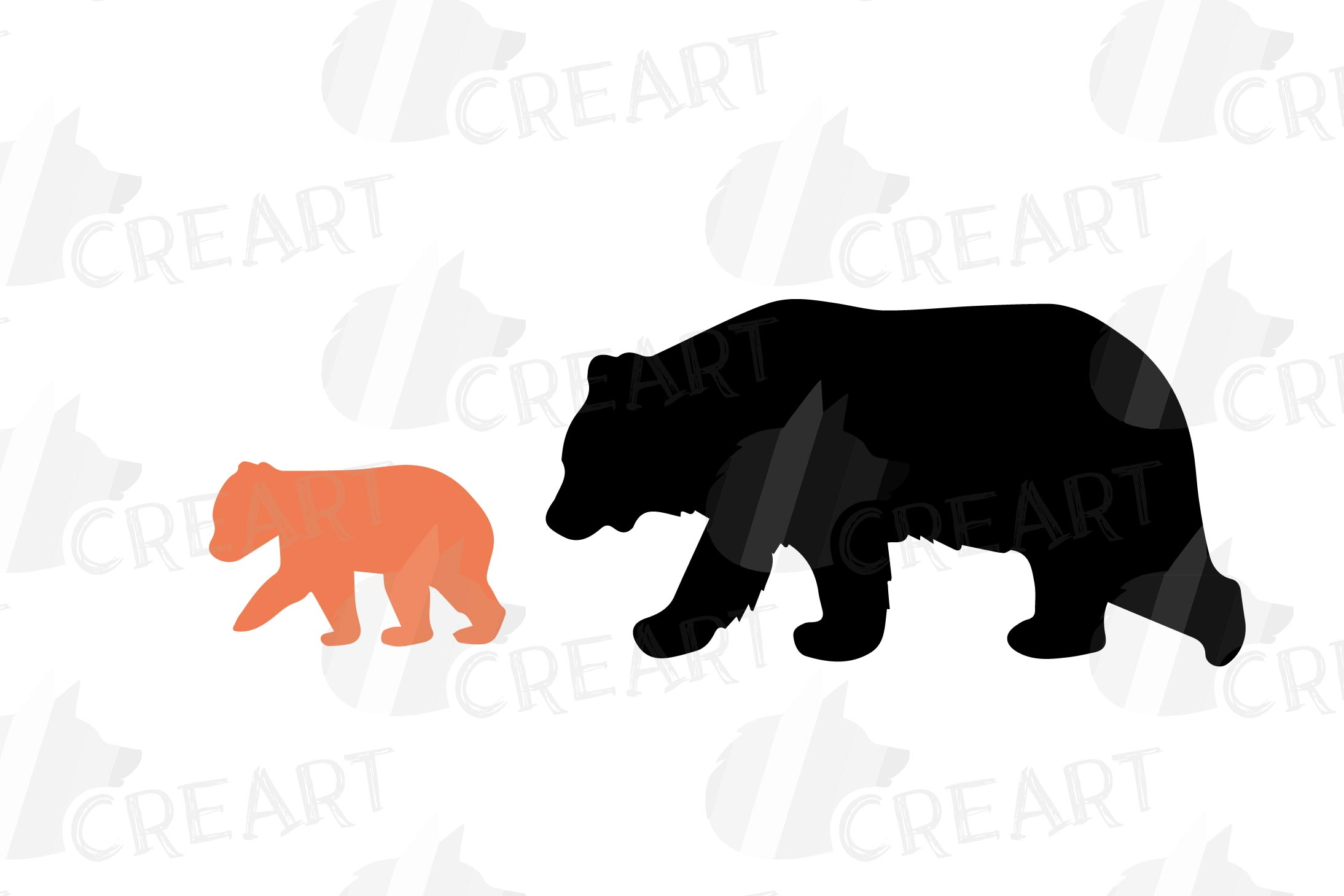 Baby and mama bear nursery clip art collection, bears print example image 15