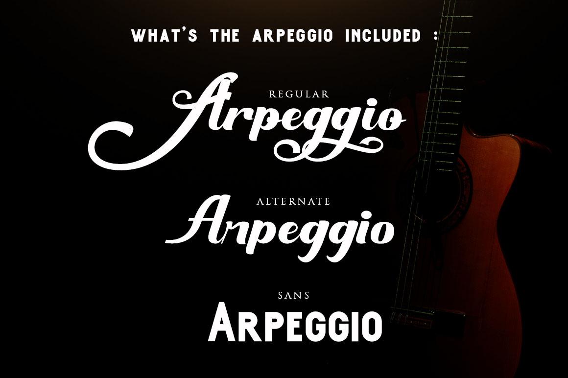 Arpeggio l Font Duo&6 Logo Templates example image 2