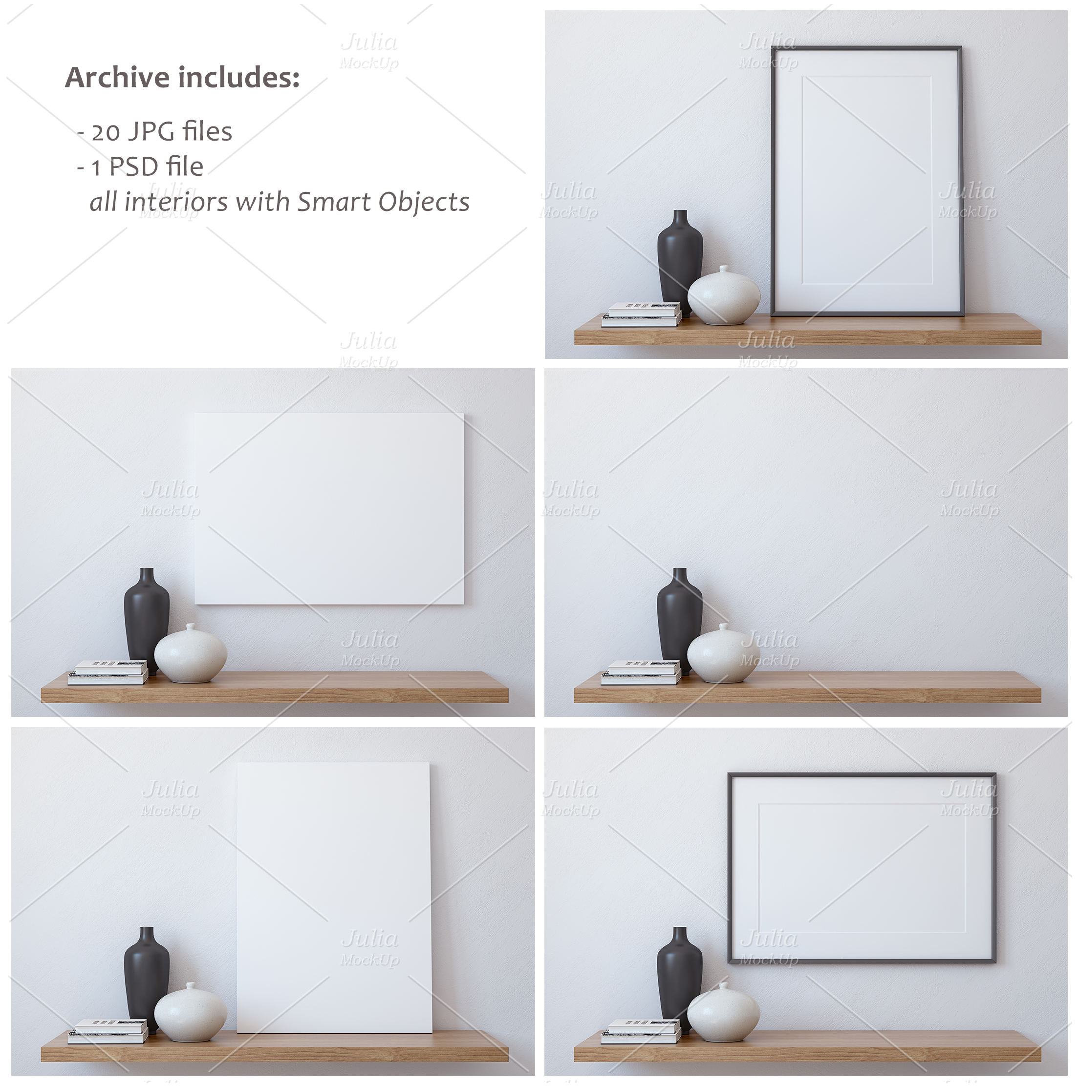 Frame&Canvas&Wall Decal Mock-ups. example image 5