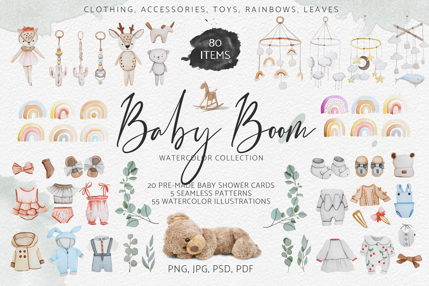 Baby Boom watercolor collection example image 1