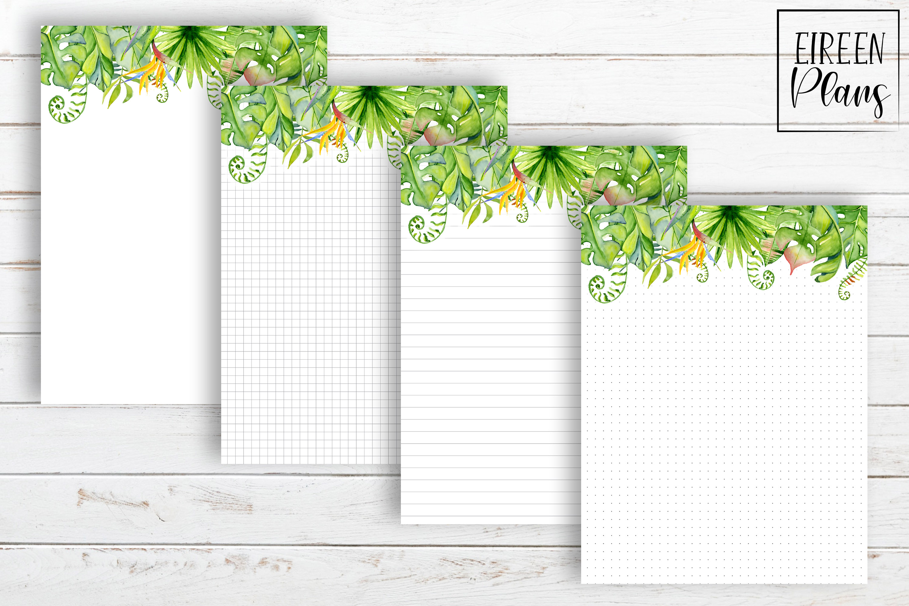 Set of tropical notes for the Classic Happy Planner example image 2