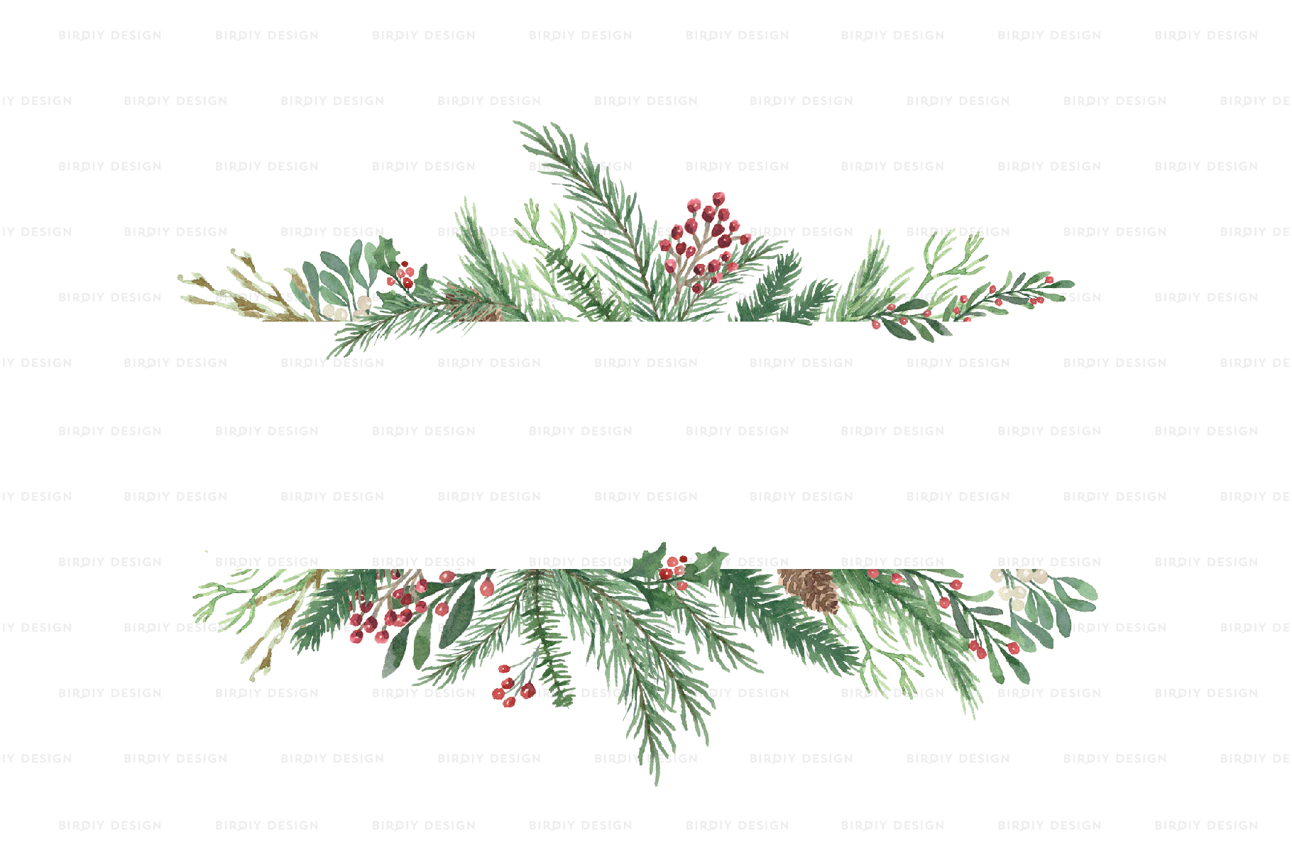 Winter Watercolor Frame Backgrounds example image 2