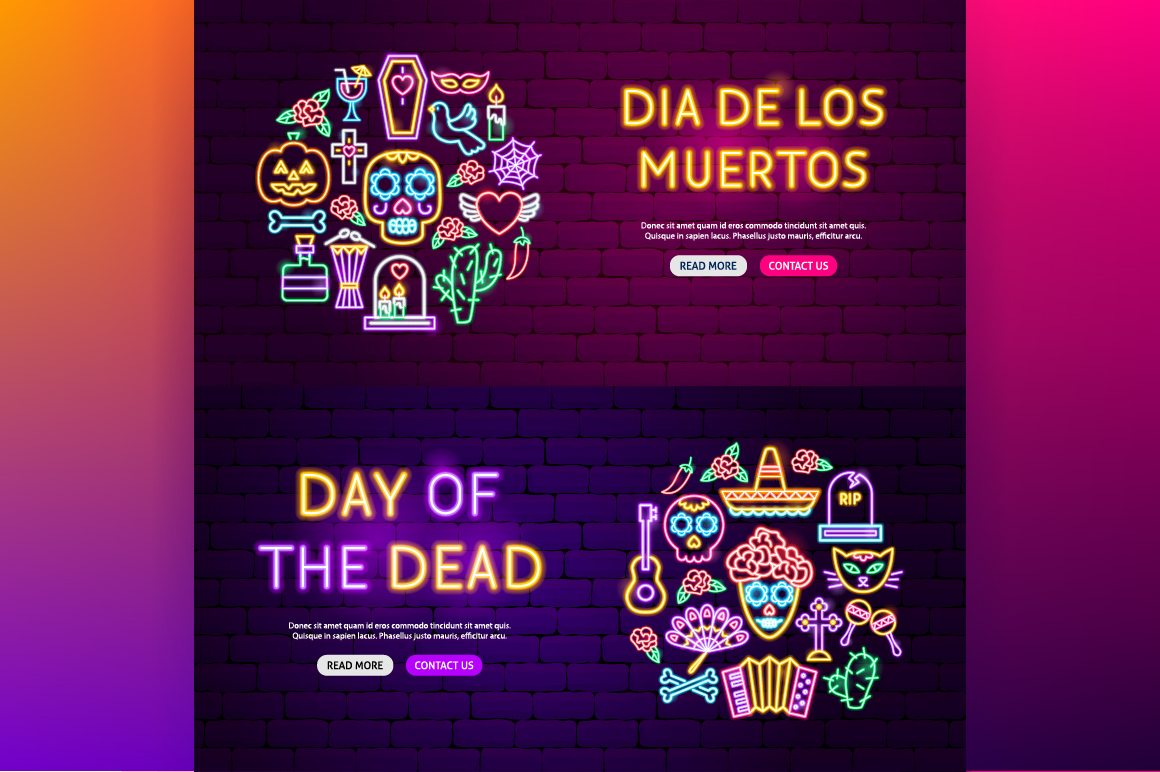 Day of the Dead Neon example image 7