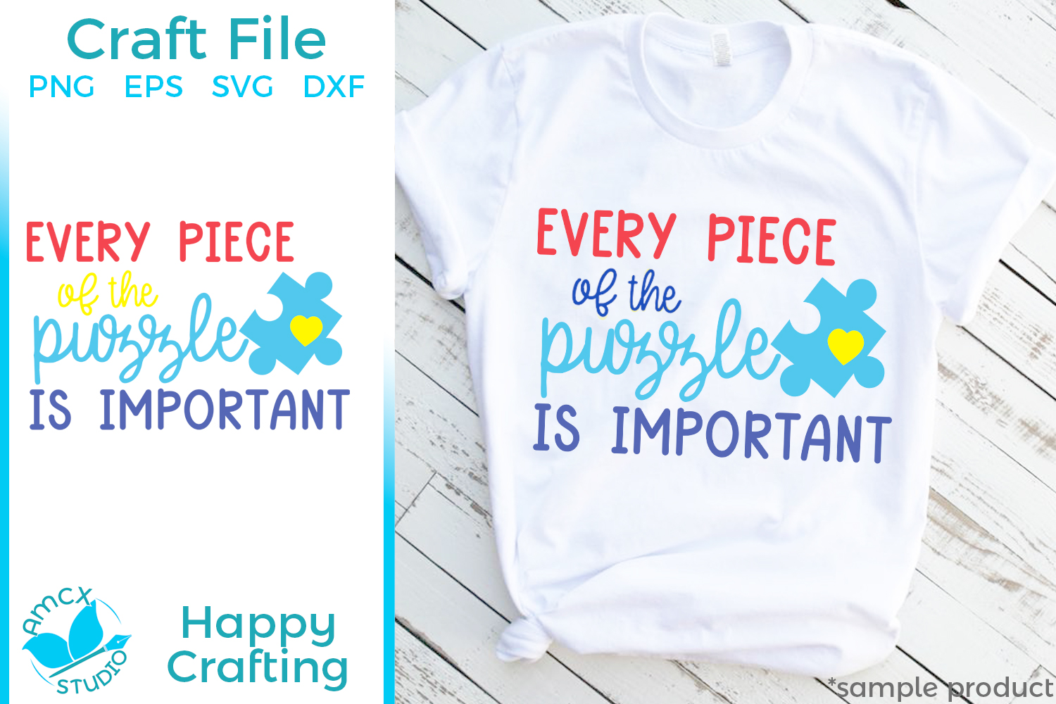Every Piece Of The Puzzle Is Important - An Autism SVG File example image 1