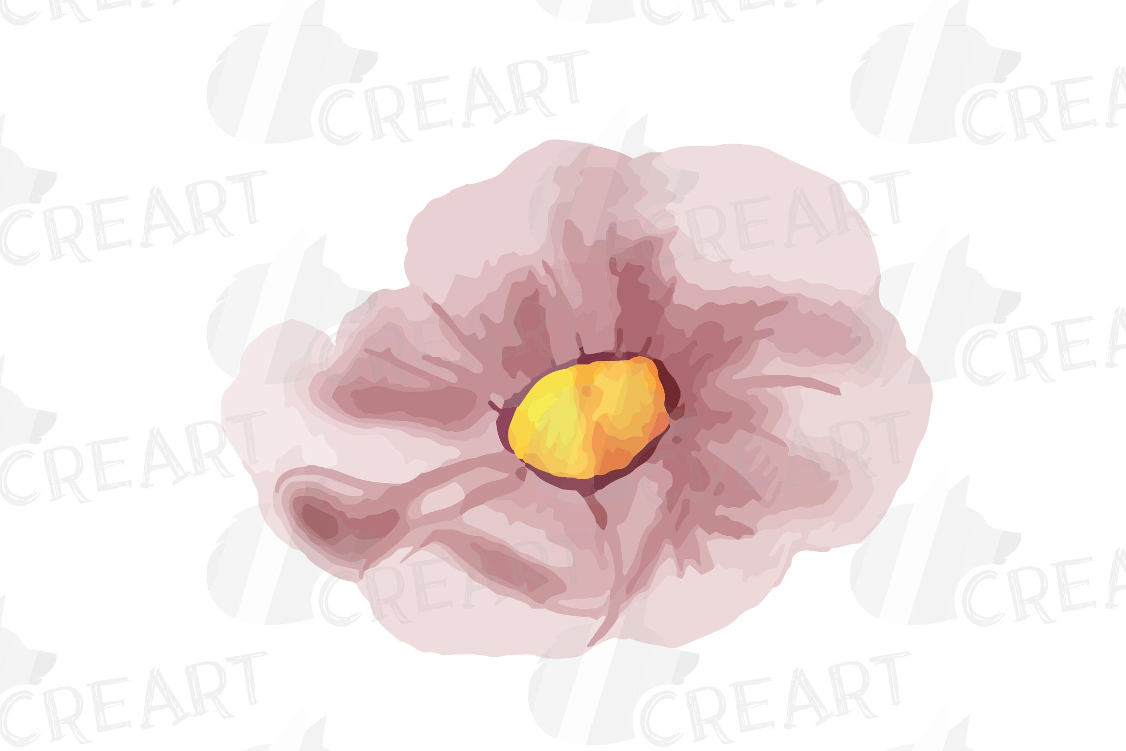 Floral navy watercolor, dark indigo and blush pink flowers example image 12