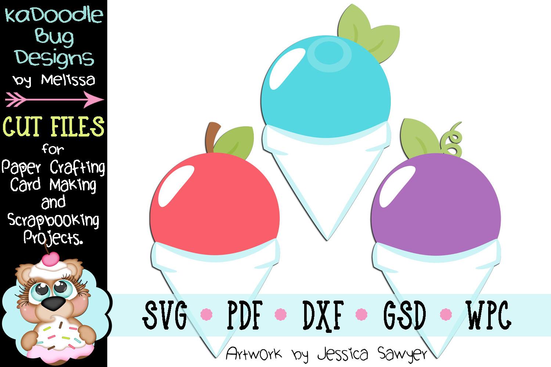 Fruit Snowcones Cut File - SVG PDF DXF GSD WPC example image 1