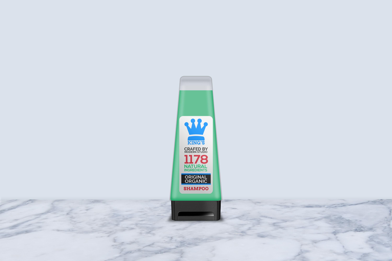 Hair and Body Shampoo Bottle Mock-Up example image 3