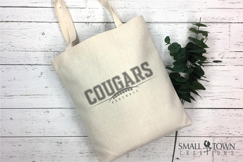 Cougar Football, Paw Print, Team, Logo, PRINT, CUT & DESIGN example image 4
