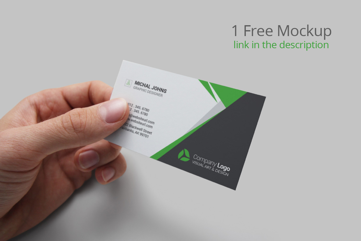 Realistic Business Card Mockups example image 14