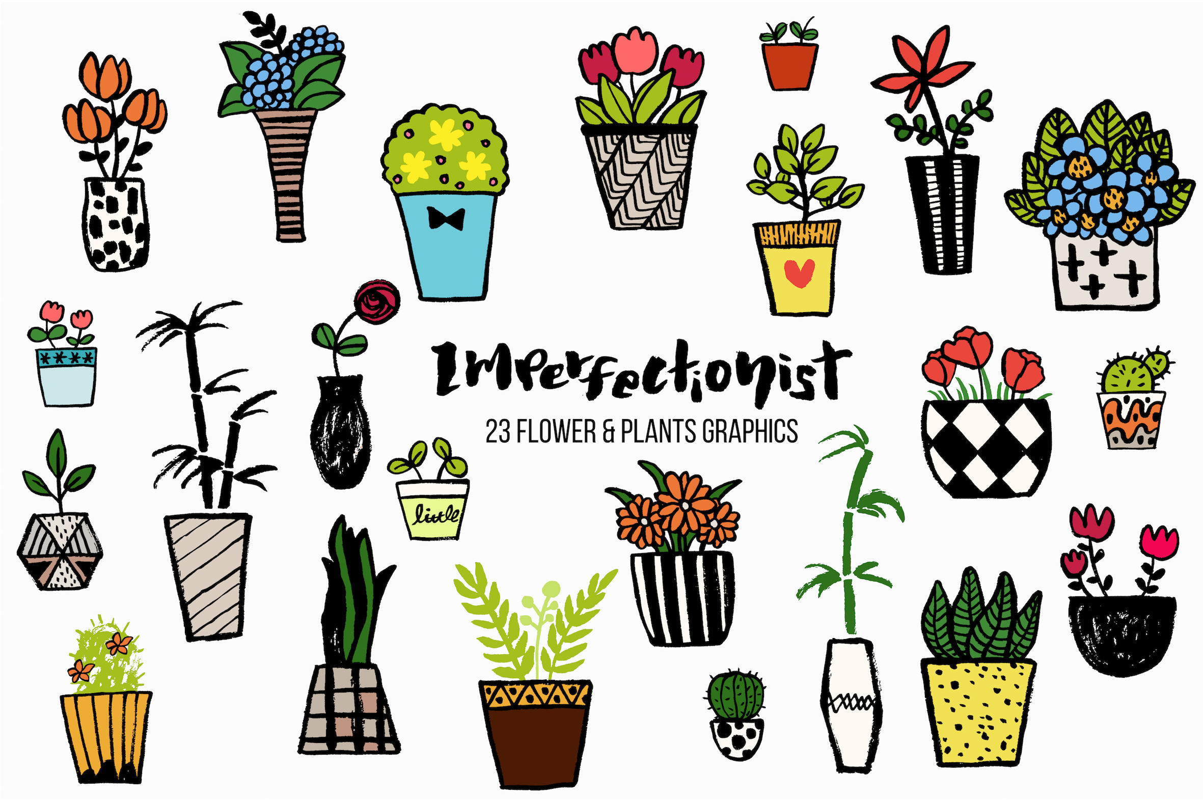 Imperfectionist - Inked Plant pots example image 4
