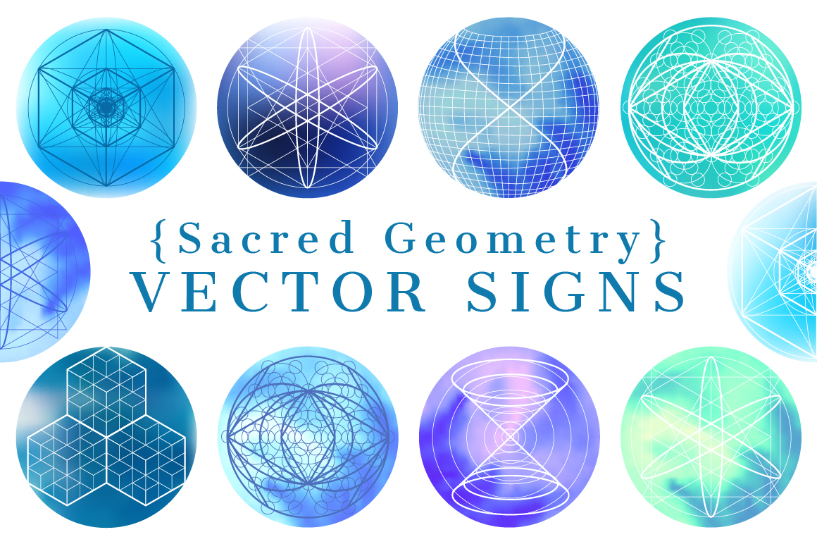 {Sacred Geometry} Vector SIGNS example image 1