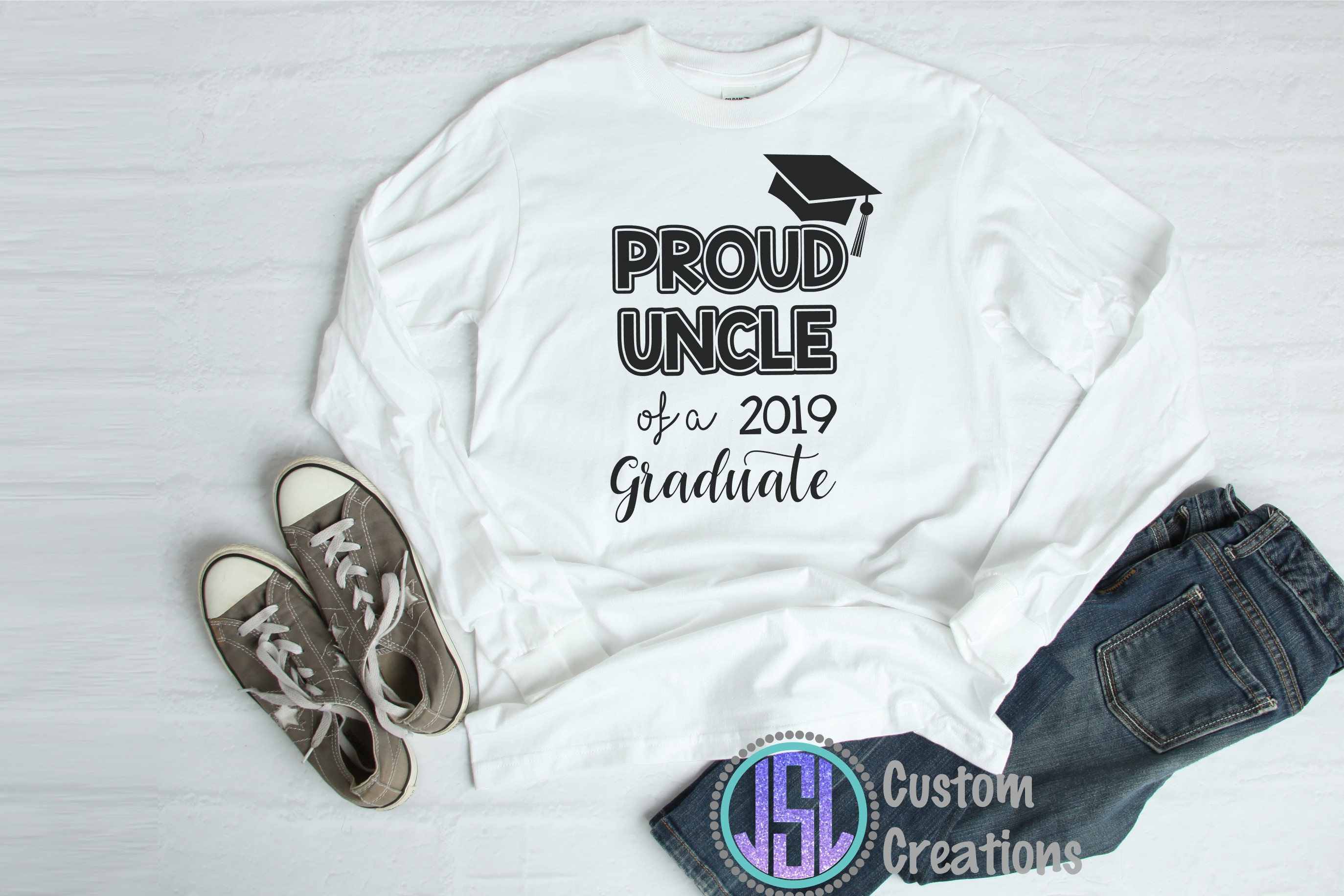 Proud Aunt, Uncle of a 2019 Graduate | SVG DXF EPS PNG Files example image 3