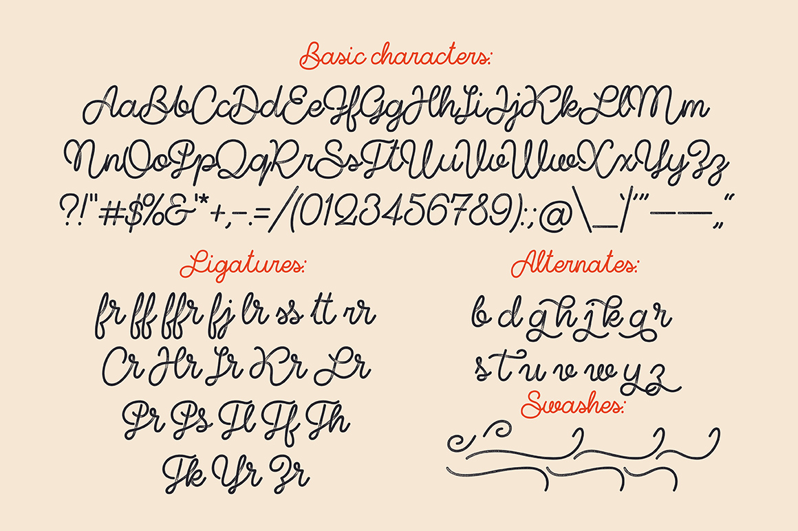Shoelaces font example image 5
