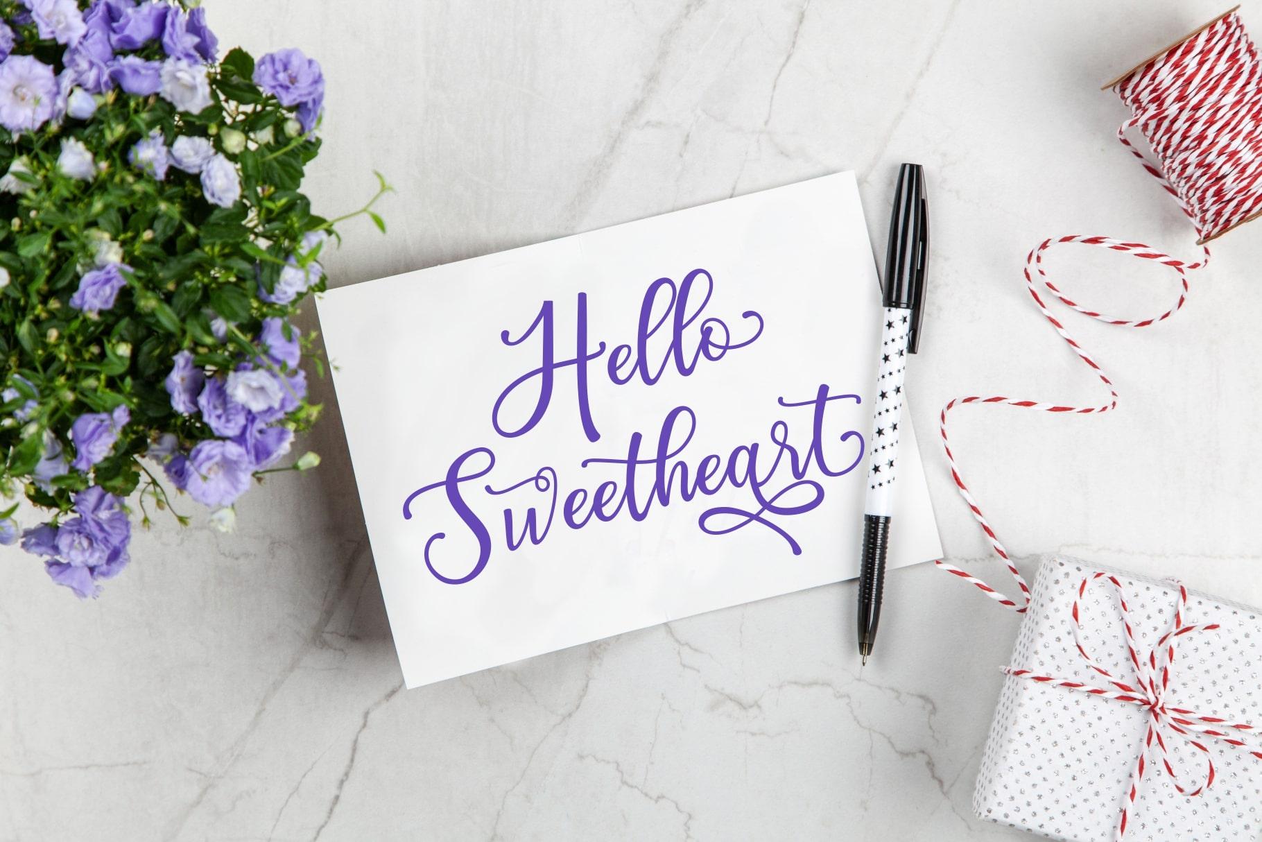 Happy Birthday // Pretty font example image 2