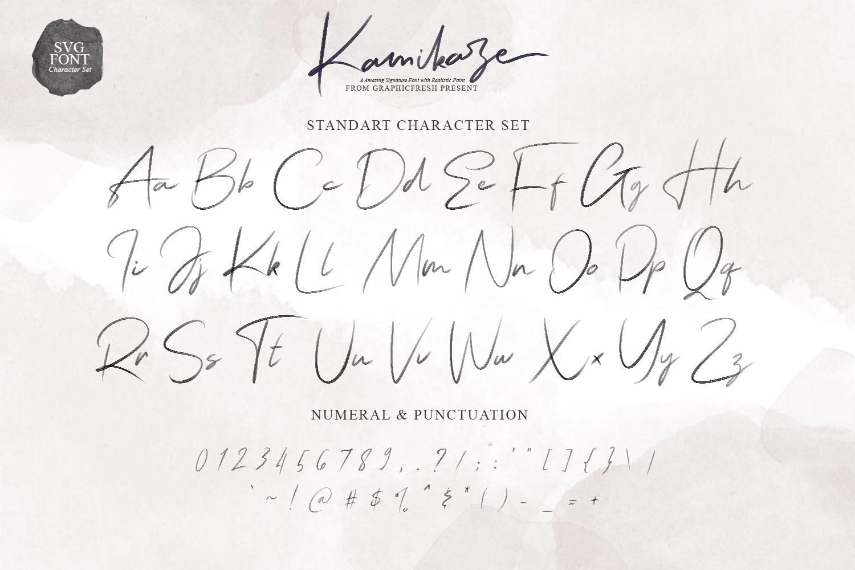Kamikaze SVG Font example image 7