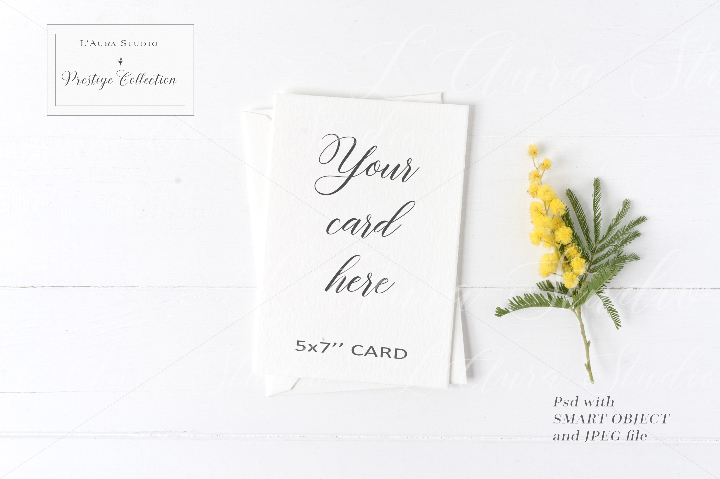 Floral 5x7 Card Mockup - crd229 example image 1