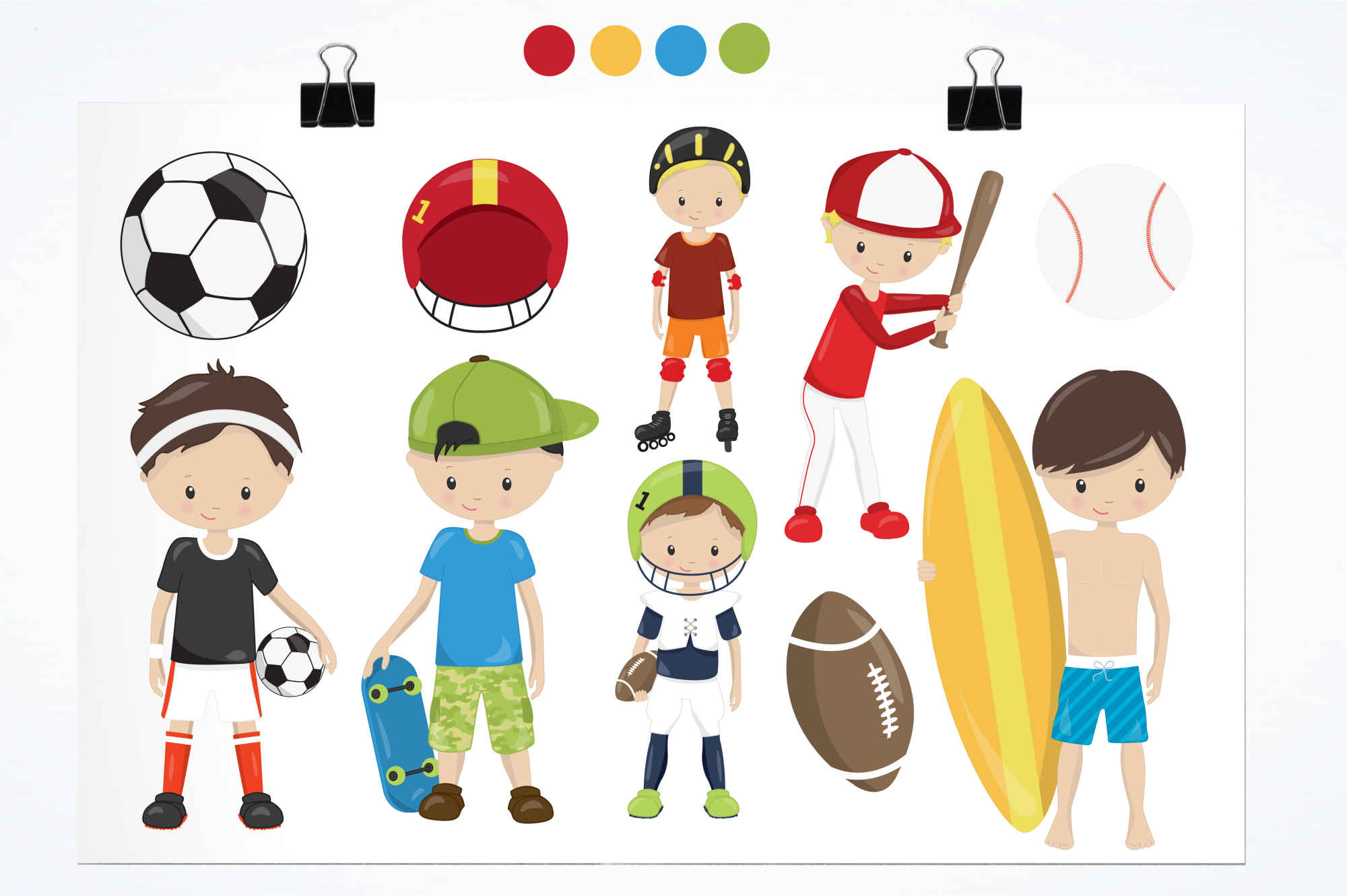 Sport Boys graphics and illustrations example image 2