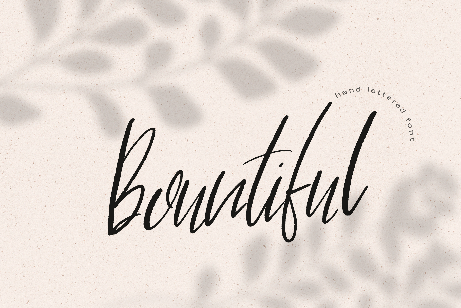 Bountiful Hand lettered. font example image 10