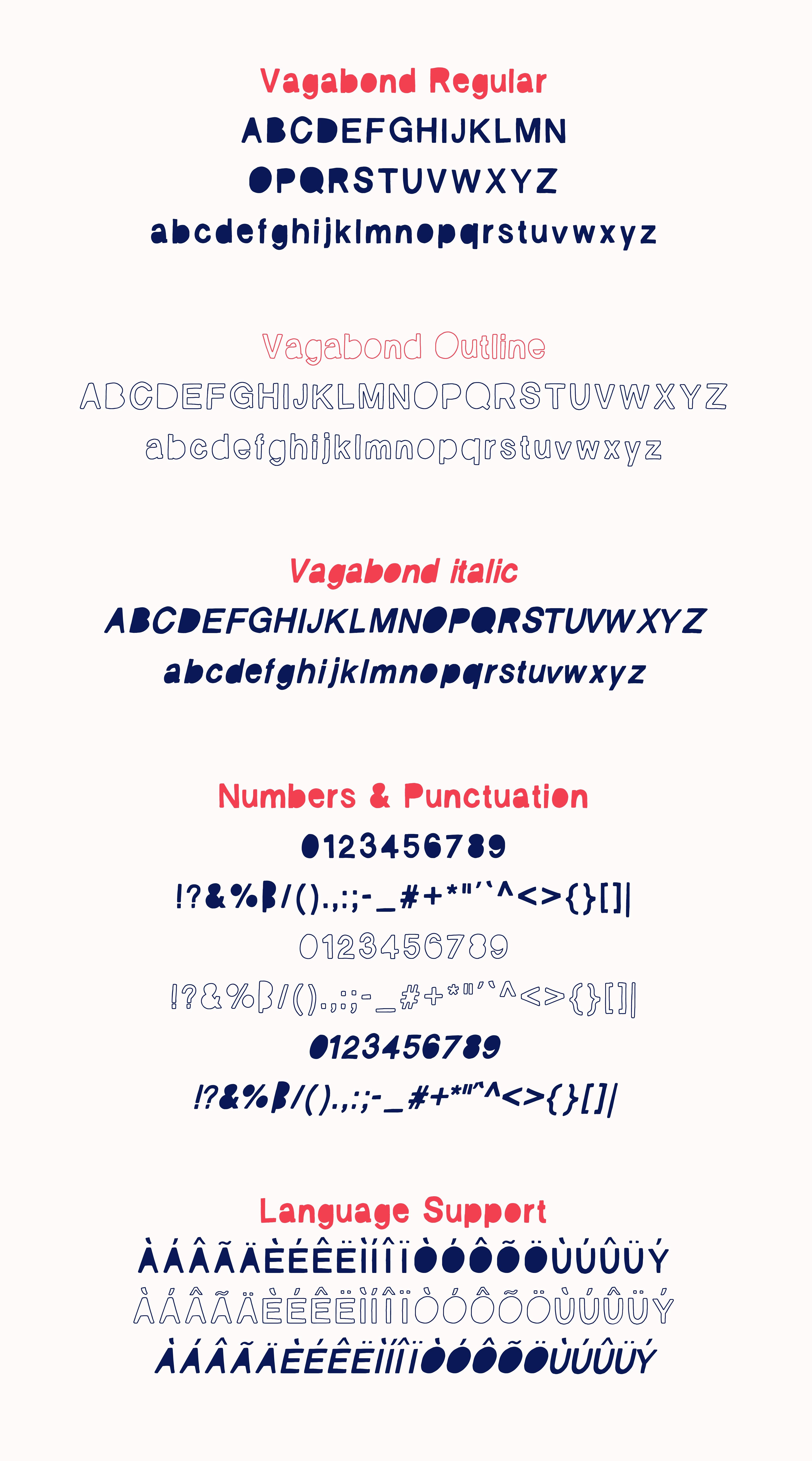 Vagabond Font Set example image 8