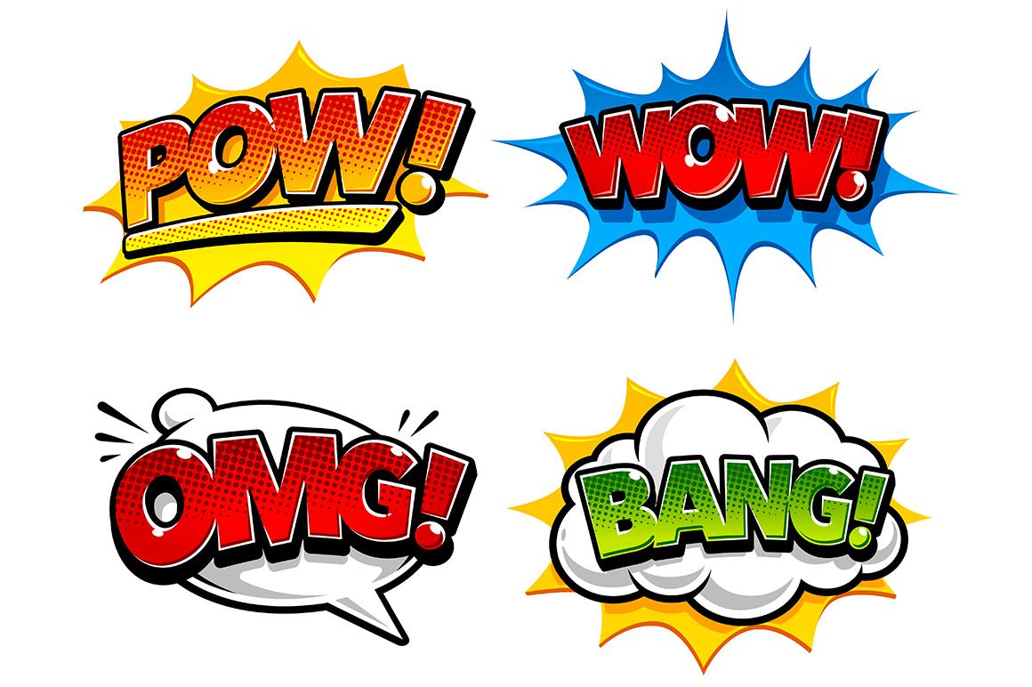 Comic Speech Bubbles example image 2