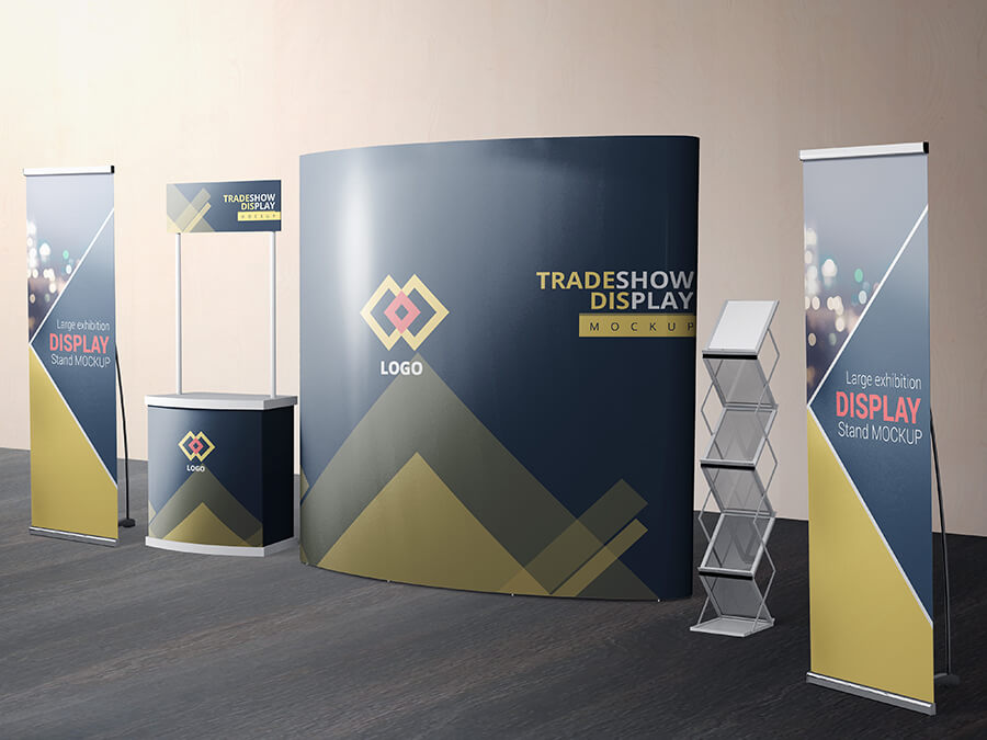 VARIOUS TRADESHOW EXHIBITION BOOTH MOCKUPS example image 5