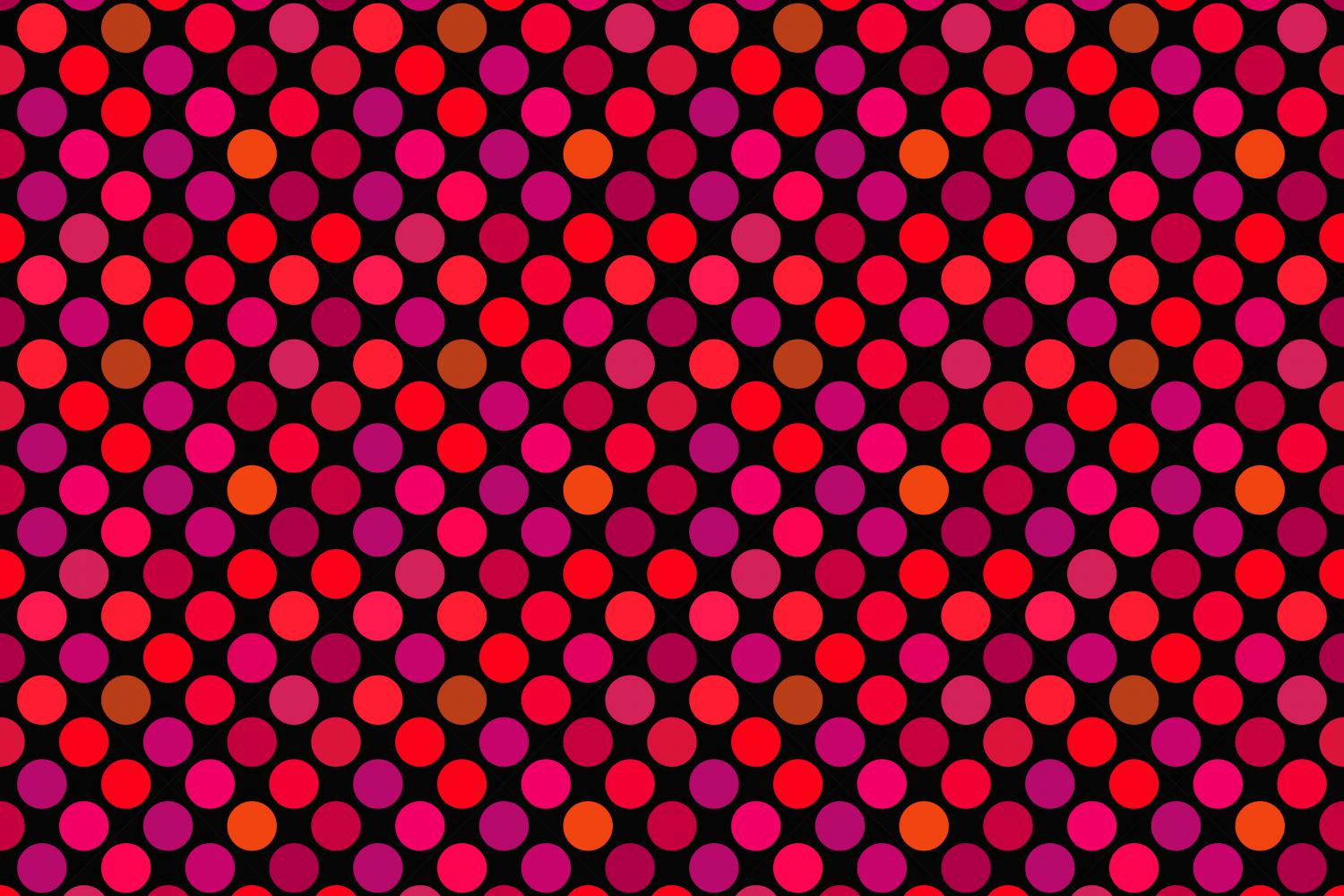 24 Seamless Red Dot Patterns example image 14