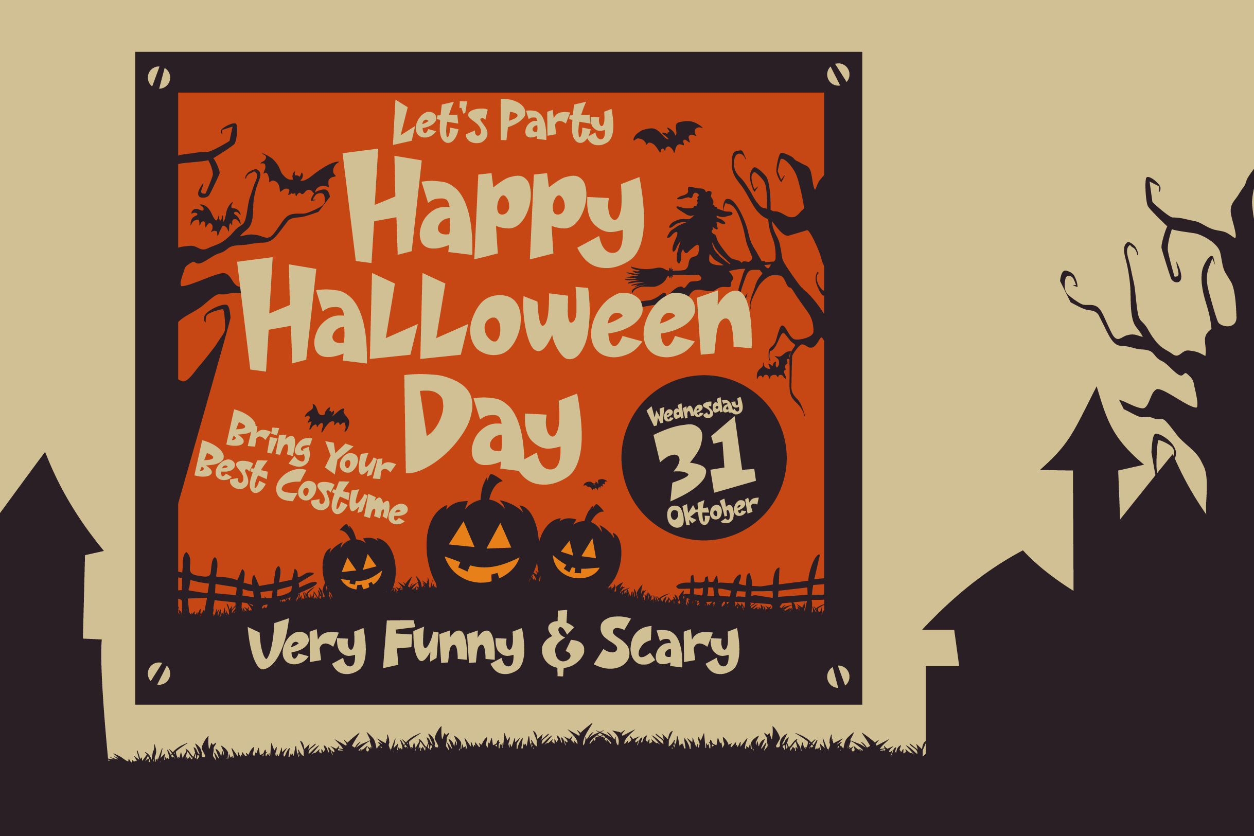 Night House - A Fun Display Font example image 2