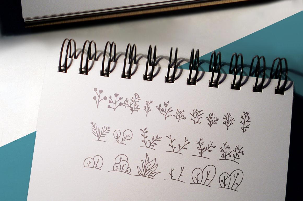 100 Boho-Chic Plants Vectors example image 2