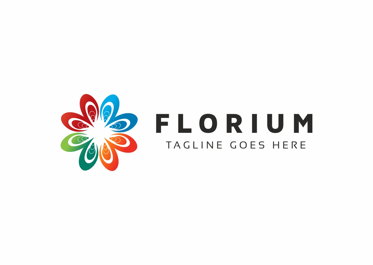 Flower Colorful Logo example image 3