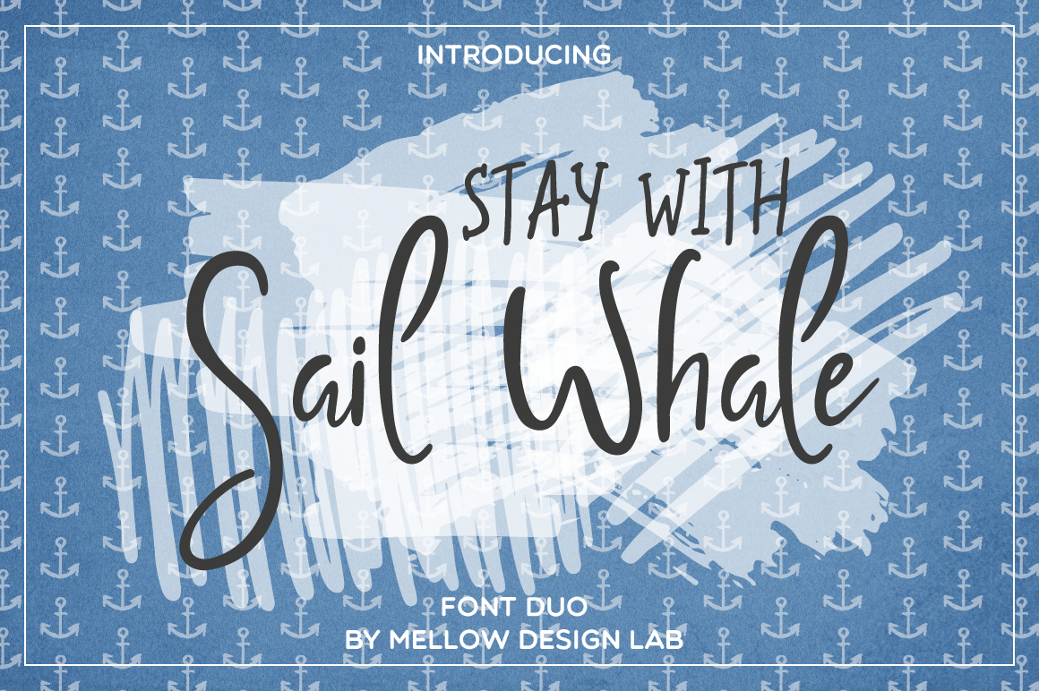 Sail Whale [Font Duo] example image 1