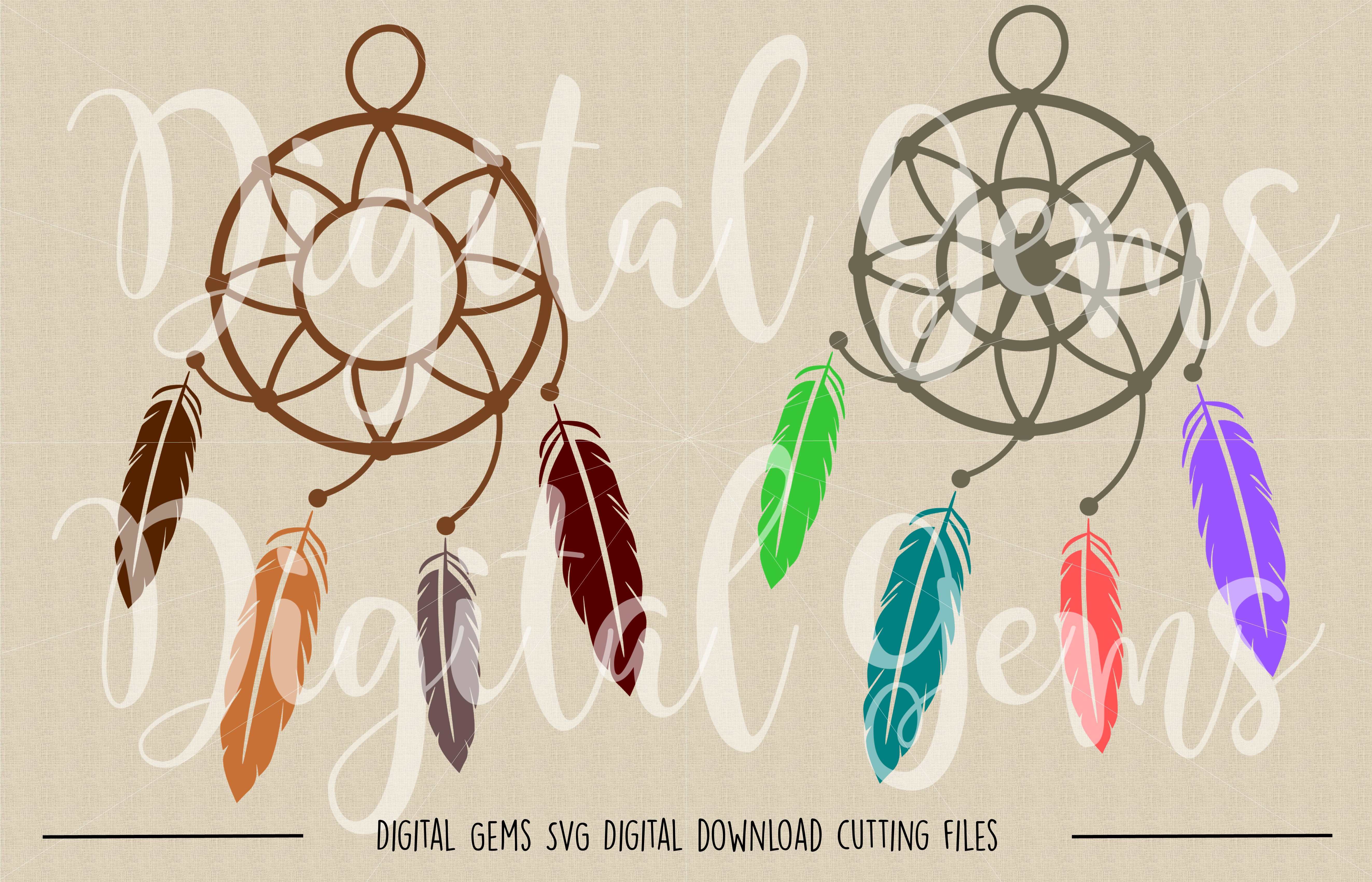 Dream Catcher SVG / PNG Files example image 2