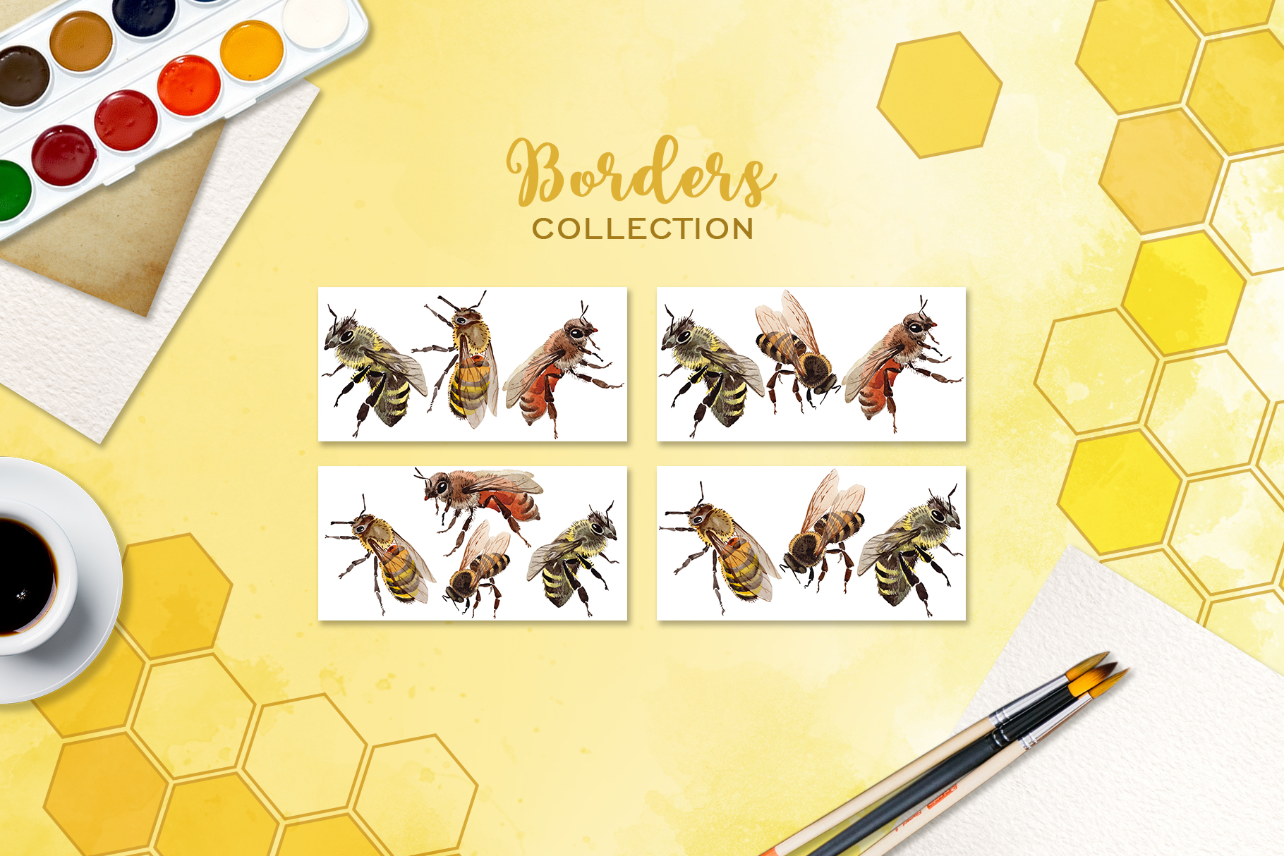 Bee Watercolor png example image 5