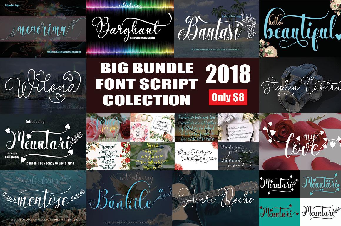 BIG BUNDLE FONT SCRIPT COLECTION example image 1