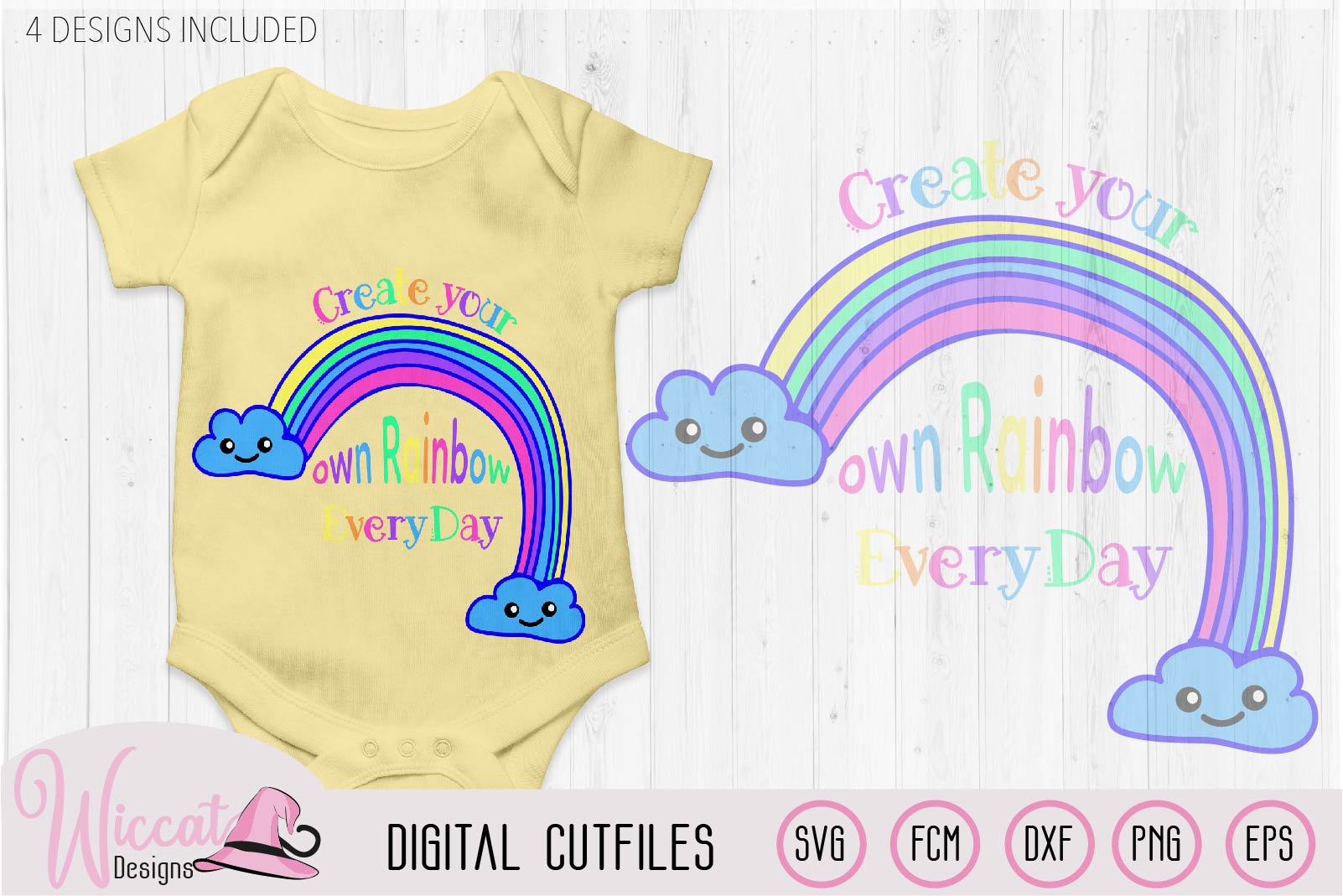 Make your own rainbow quote svg, kawaii rainbow, Kids design example image 4