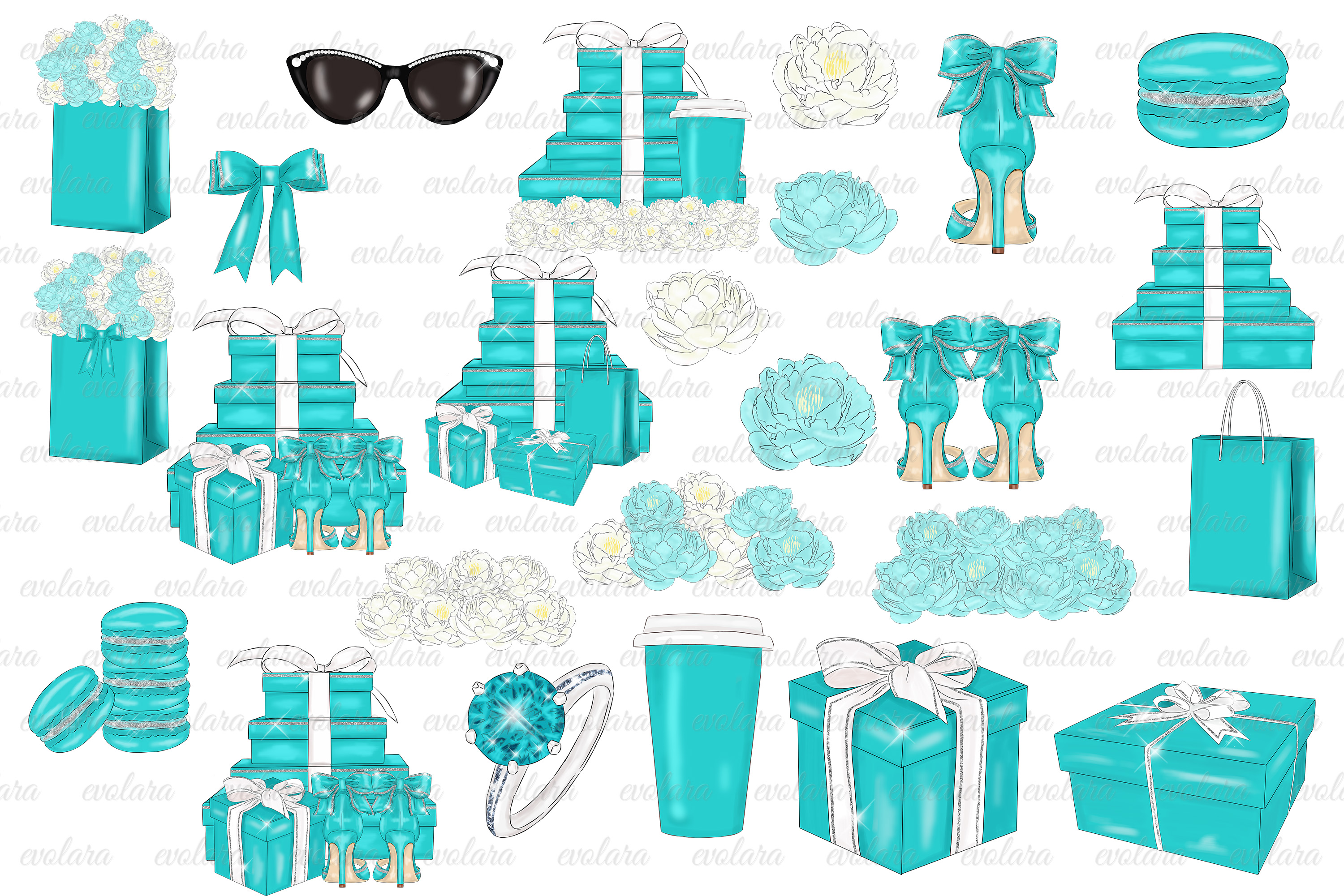 Blue Mint Clipart Fashion Illustrations Breakfast At Clipart example image 3