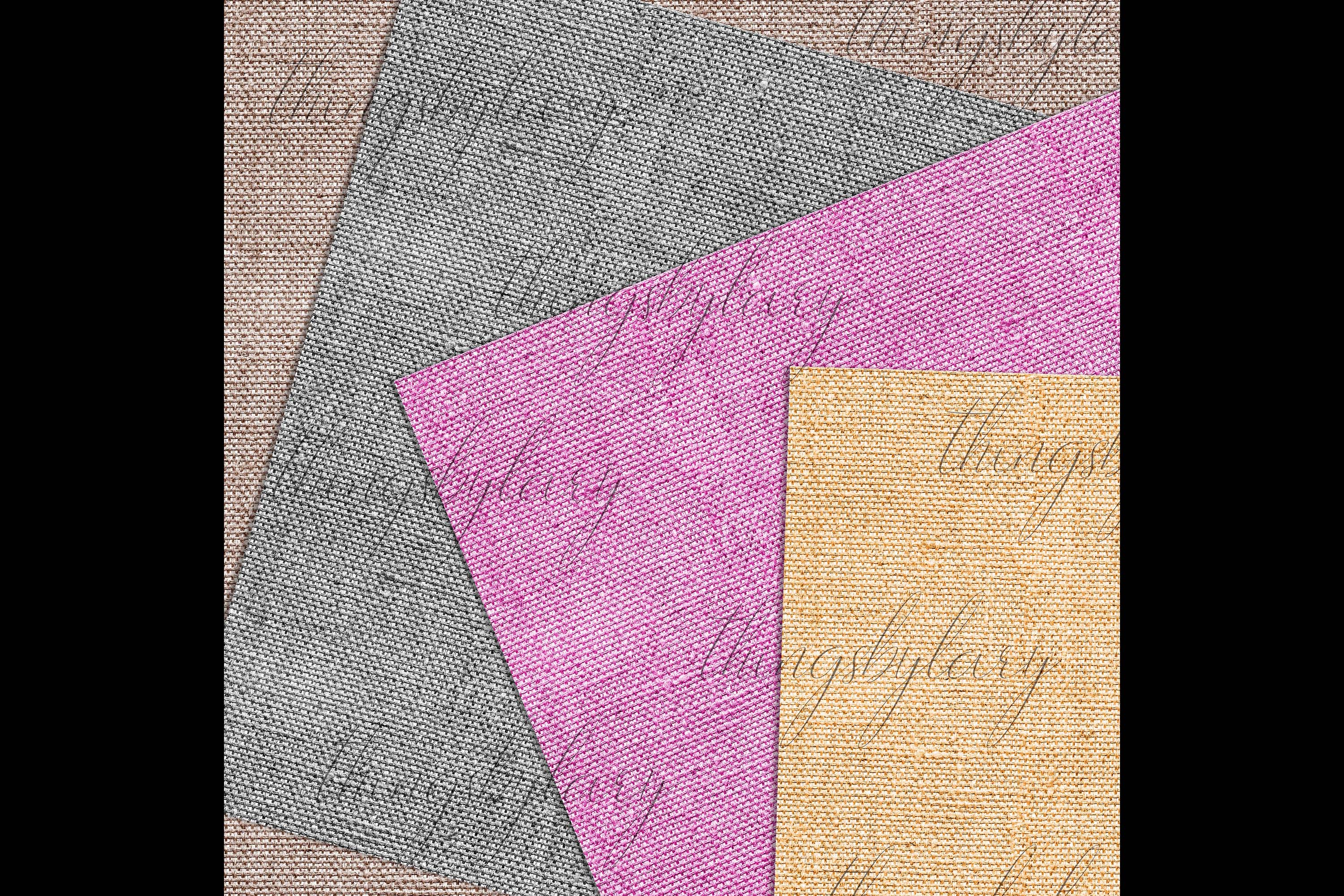 100 Seamless Realistic Burlap Texture Shabby Digital Papers example image 5