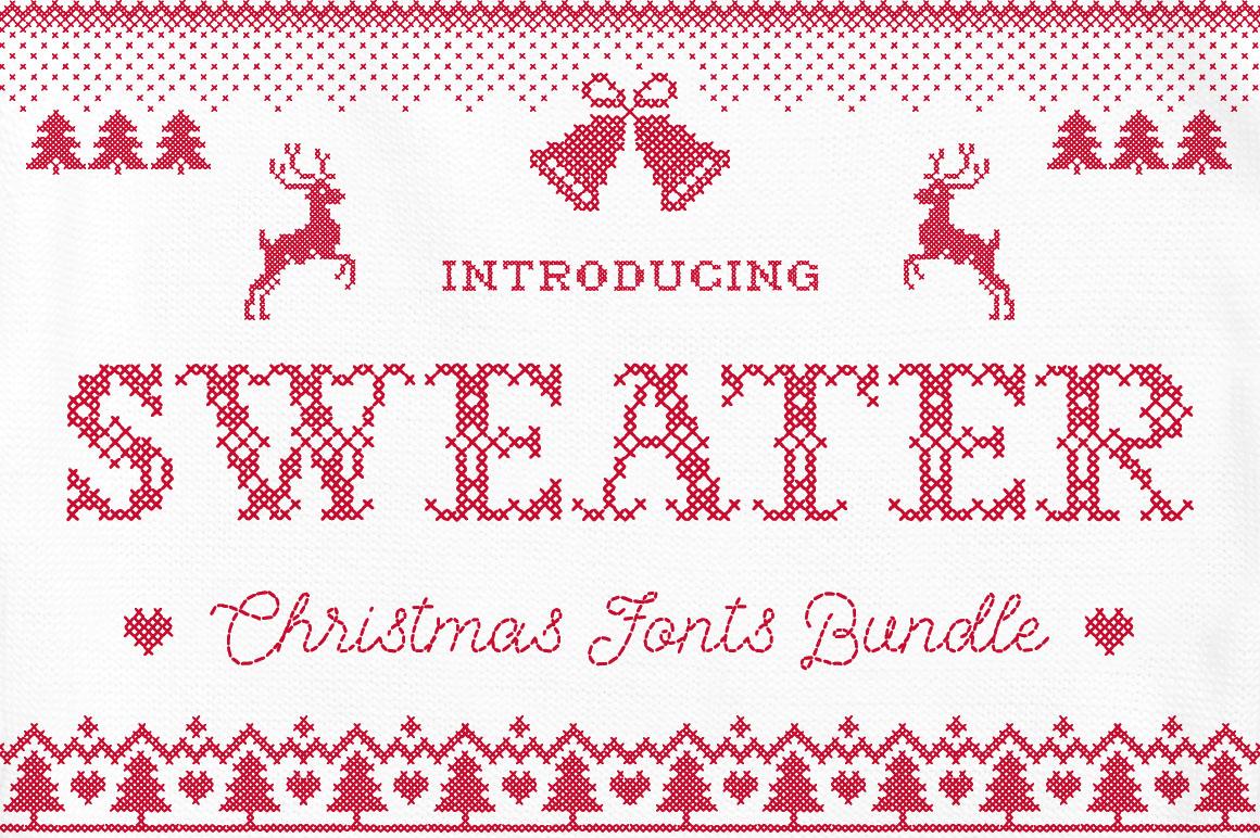 Sweater Font + BONUS example image 1