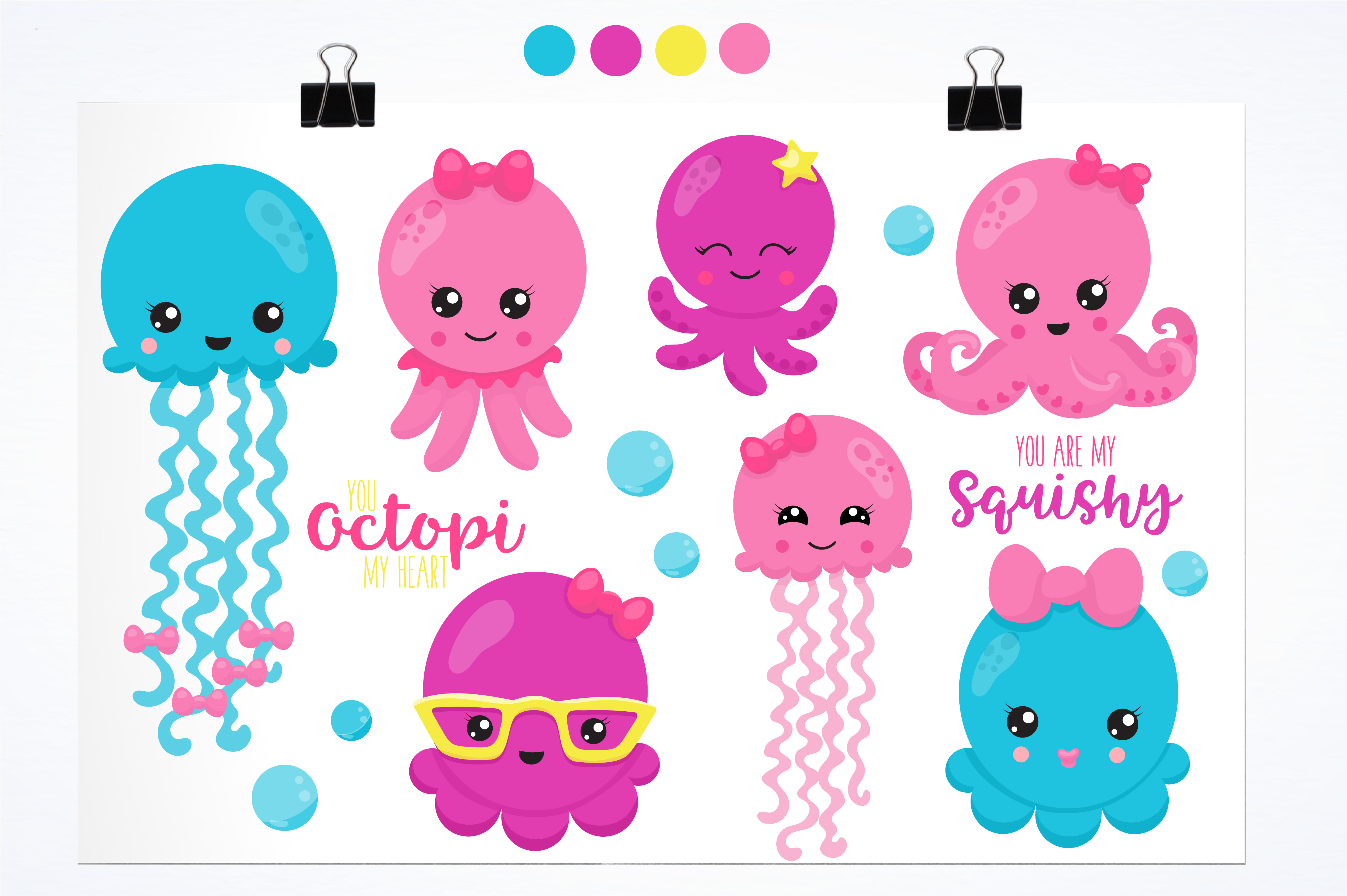 Hipster octopus graphics and illustrations example image 2