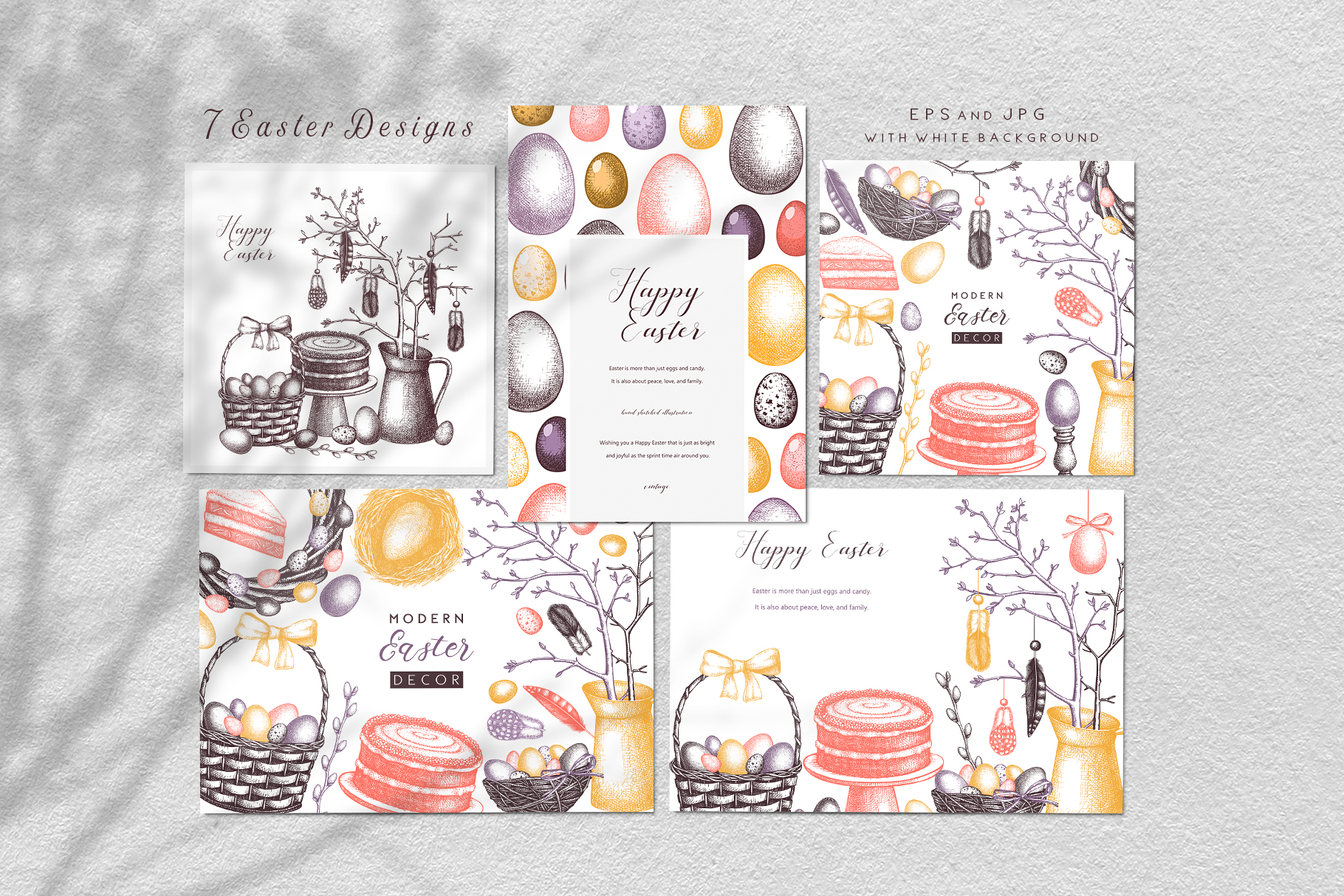 Hand Drawn Easter Design Elements example image 6