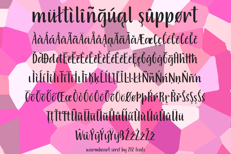 Warmheart Serif example image 5
