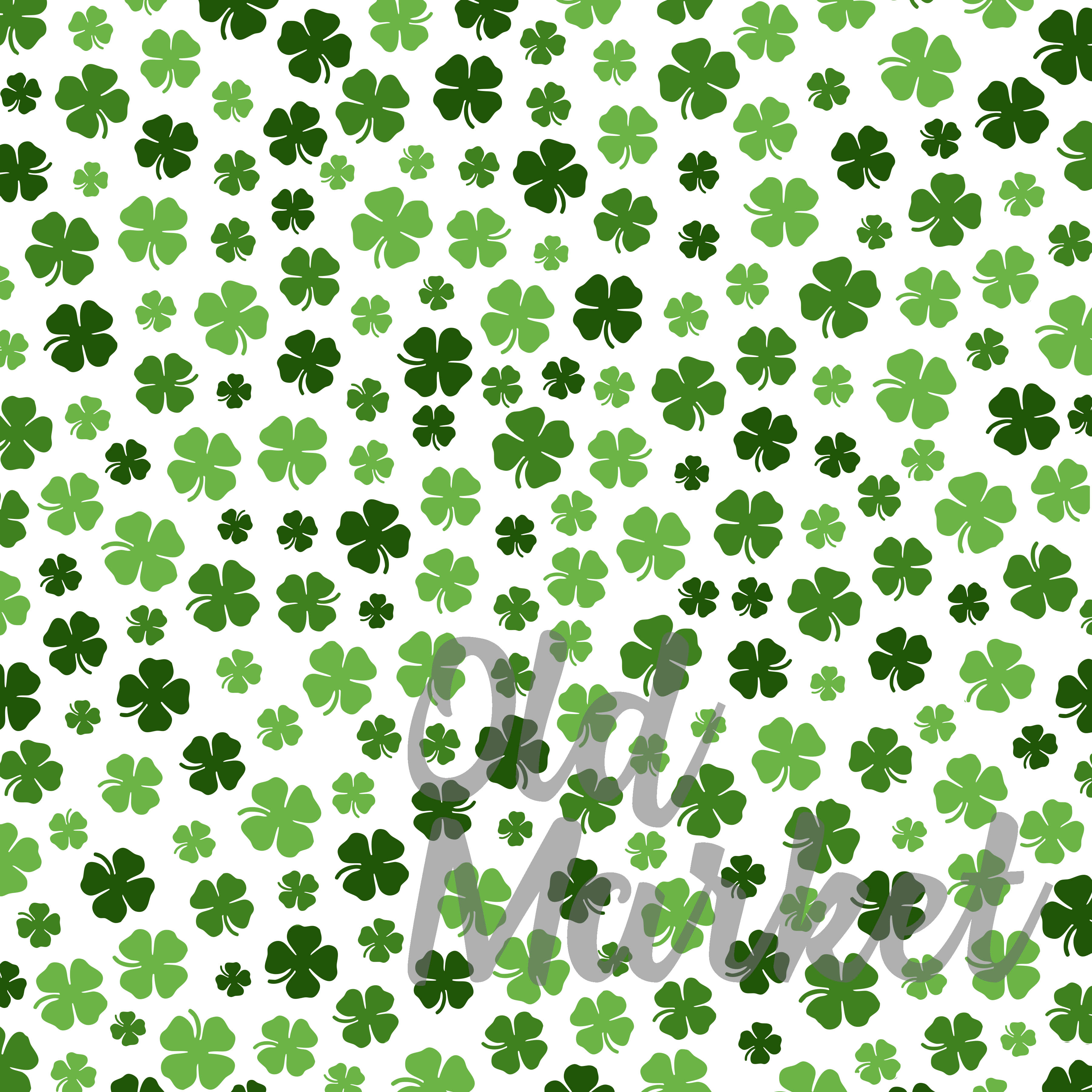 Shamrock Digital Paper - St Patrick's Day Backgrounds example image 2