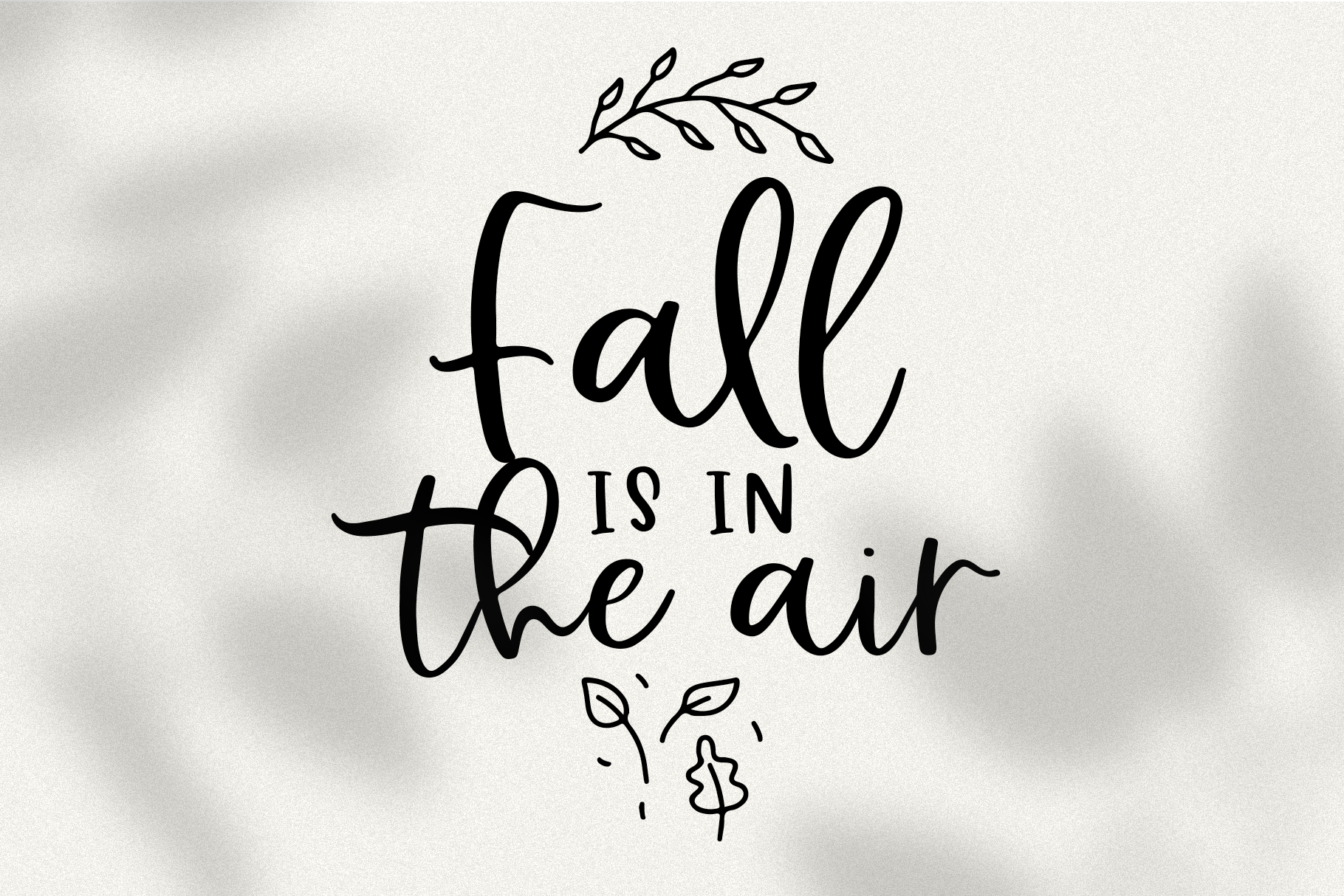 Falling Leaves - A Font Duo with Doodles example image 13