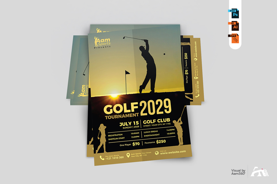 Golf Flyer Template example image 5
