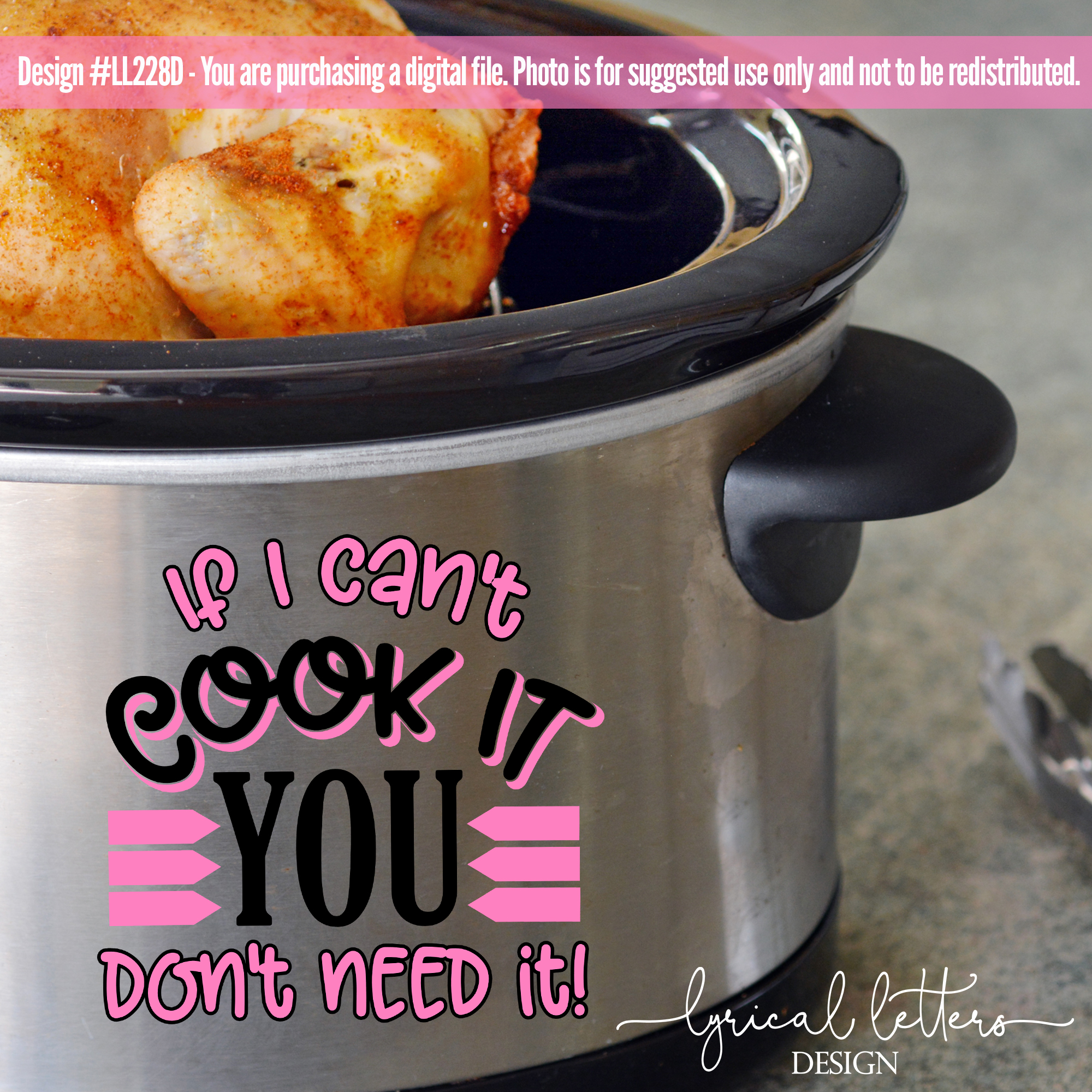 Slow Cooker Pressure Cooker If I Can't Cook It SVG LL228D example image 2