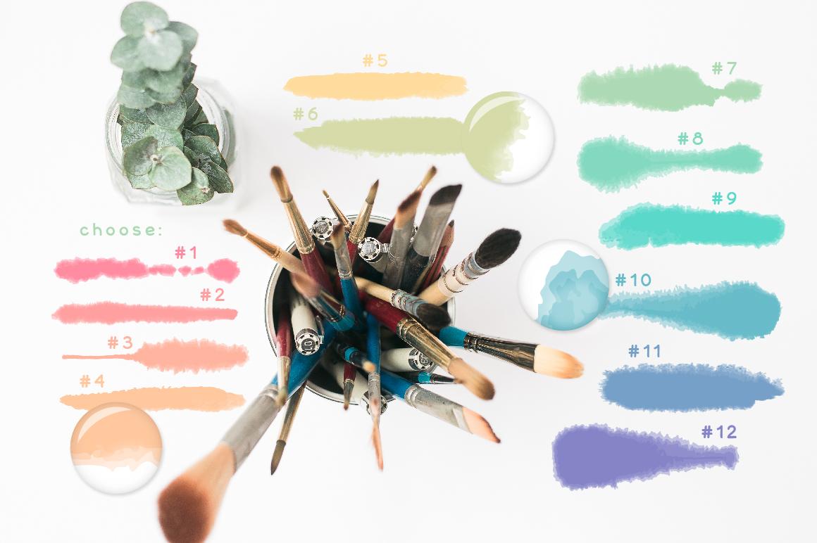 Fluffy Brushes for Illustrator example image 2
